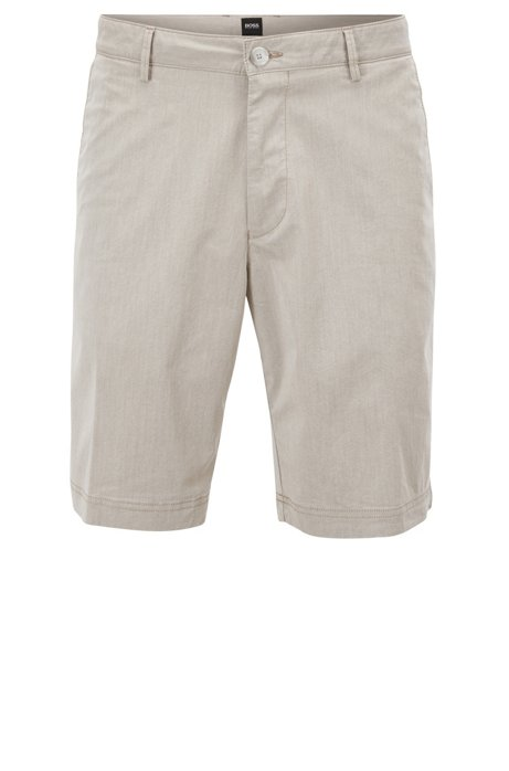 Regular-fit shorts in Italian cotton blend BOSS 2zz8bn7ib6
