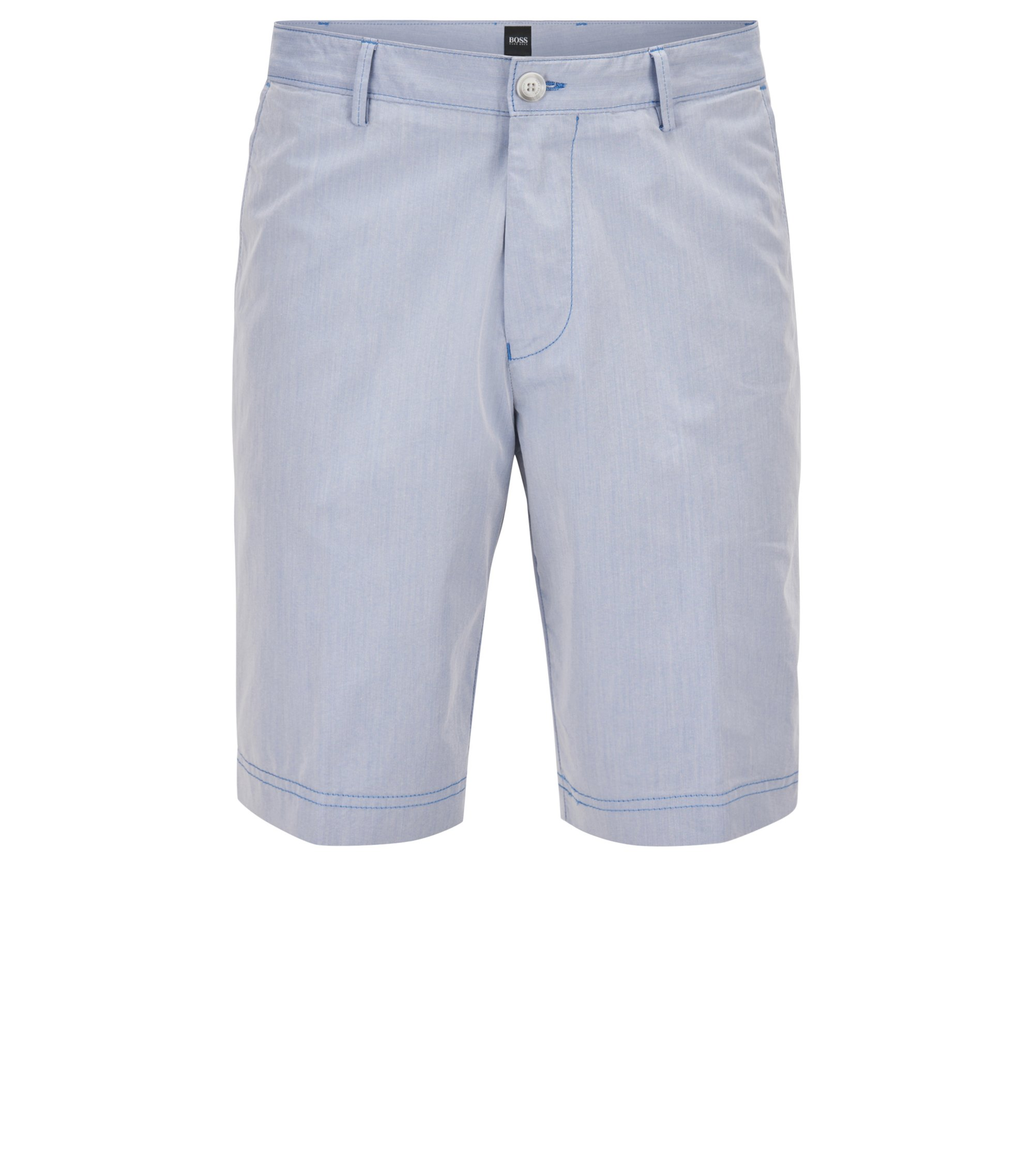 Short Regular Fit en coton italien mélangé, Bleu vif