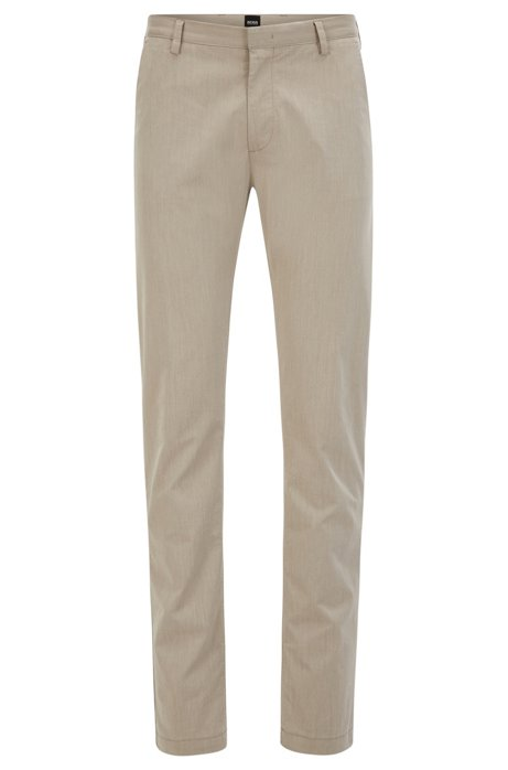 Slim-fit chinos in Italian stretch cotton BOSS re5MIl