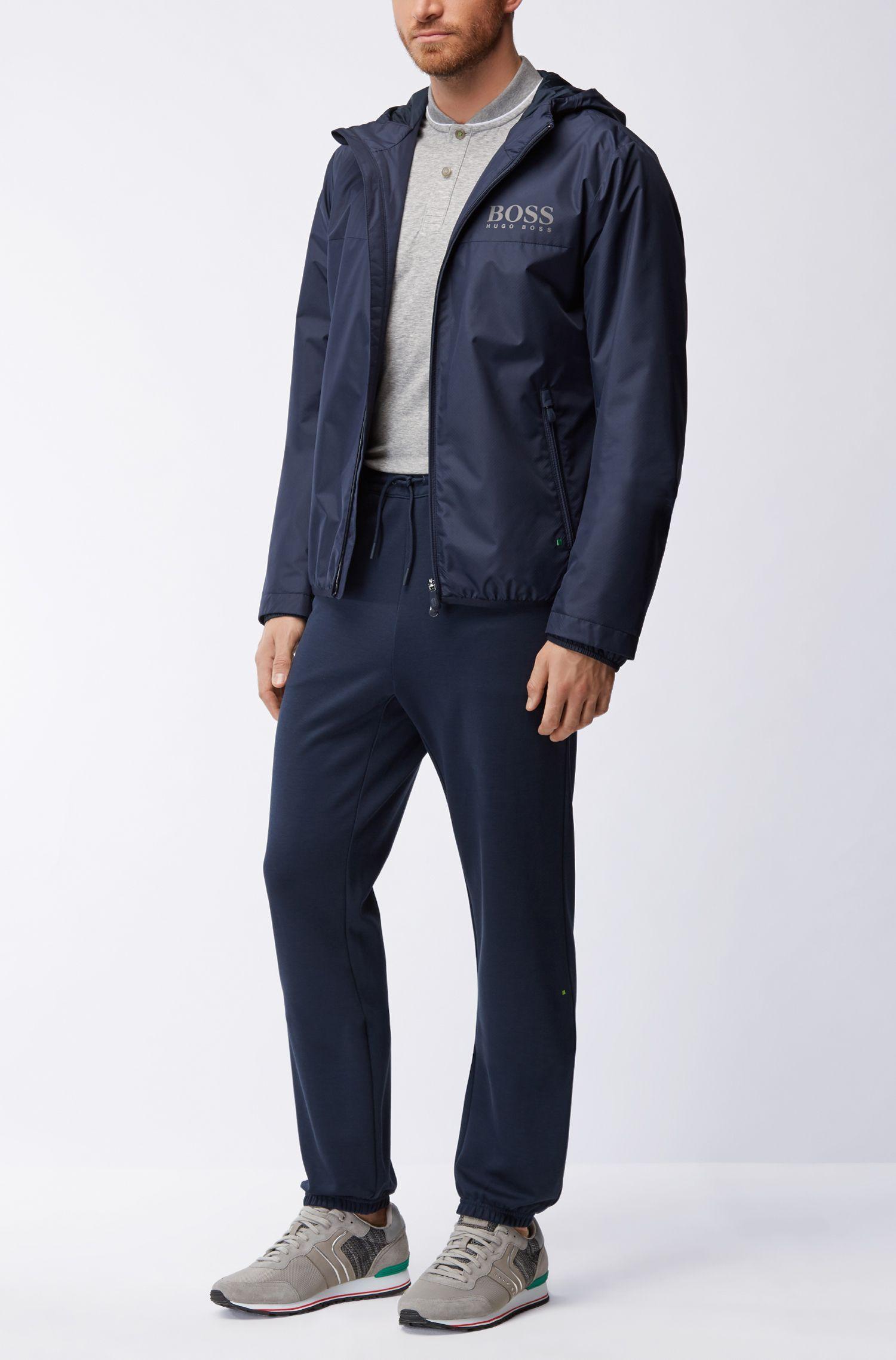 Polo slim fit in misto cotone con colletto stile bomber