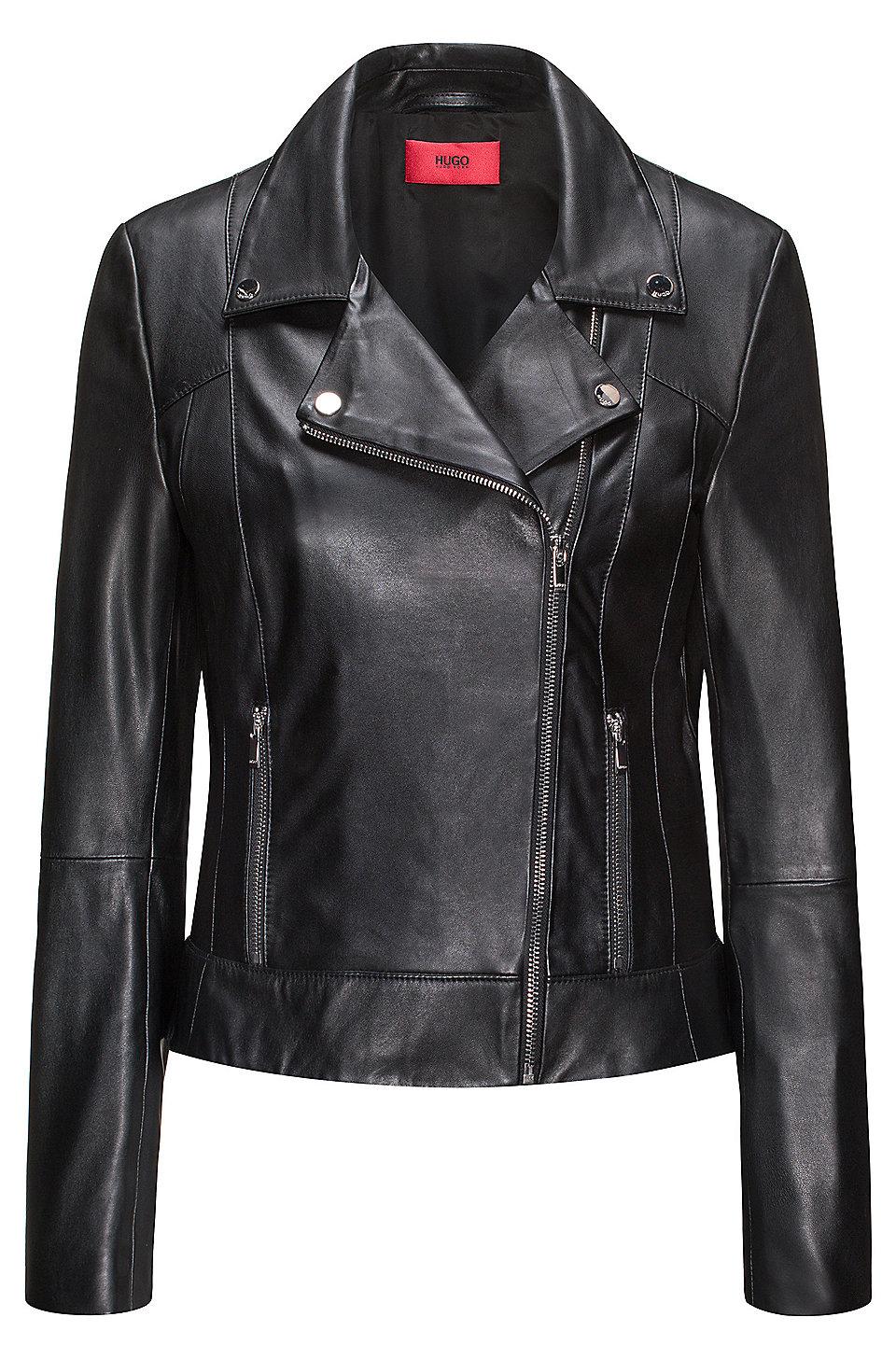 Hugo boss women's leather jacket australia
