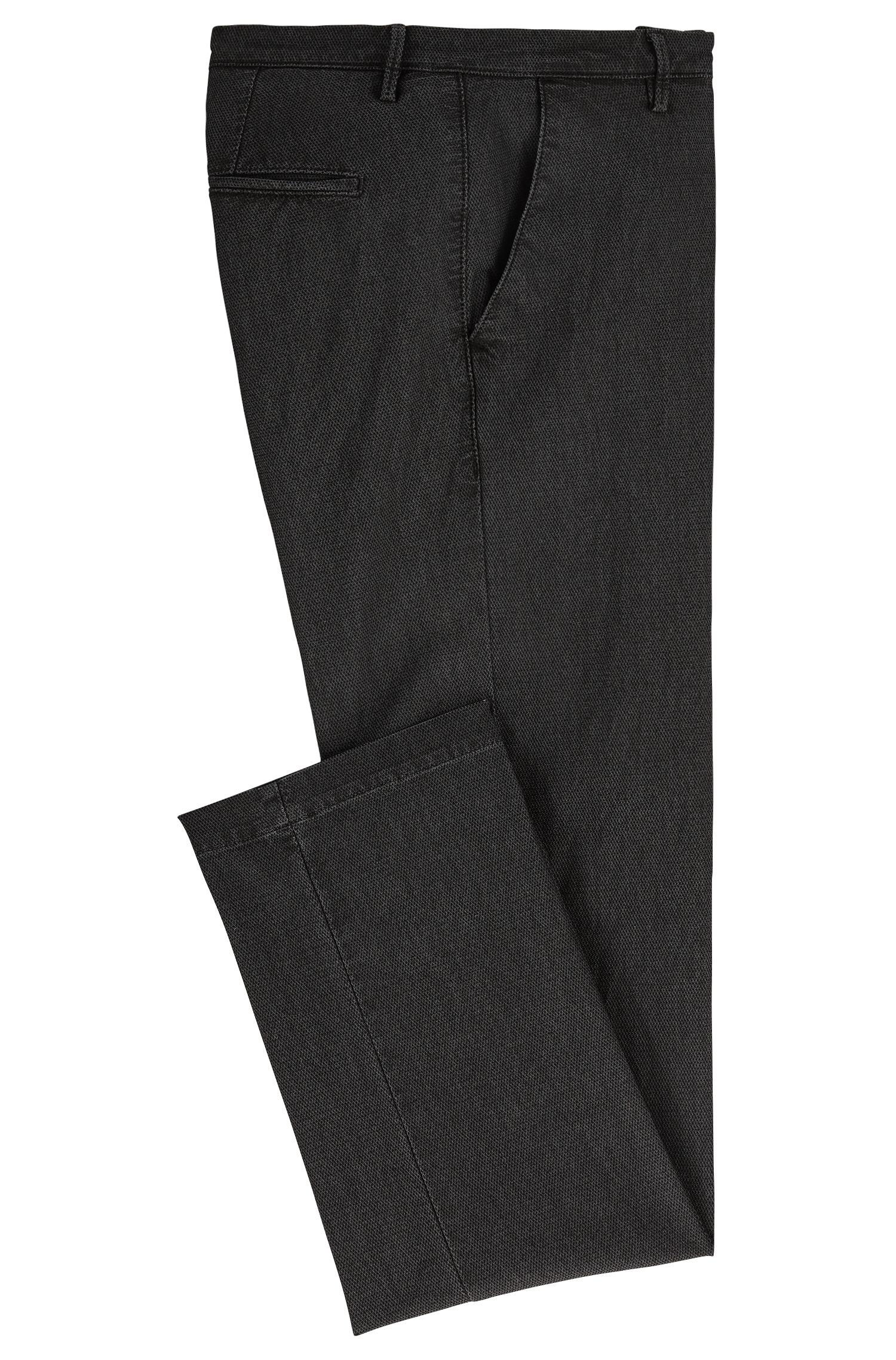 Chino Slim Fit en coton stretch mélangé texturé