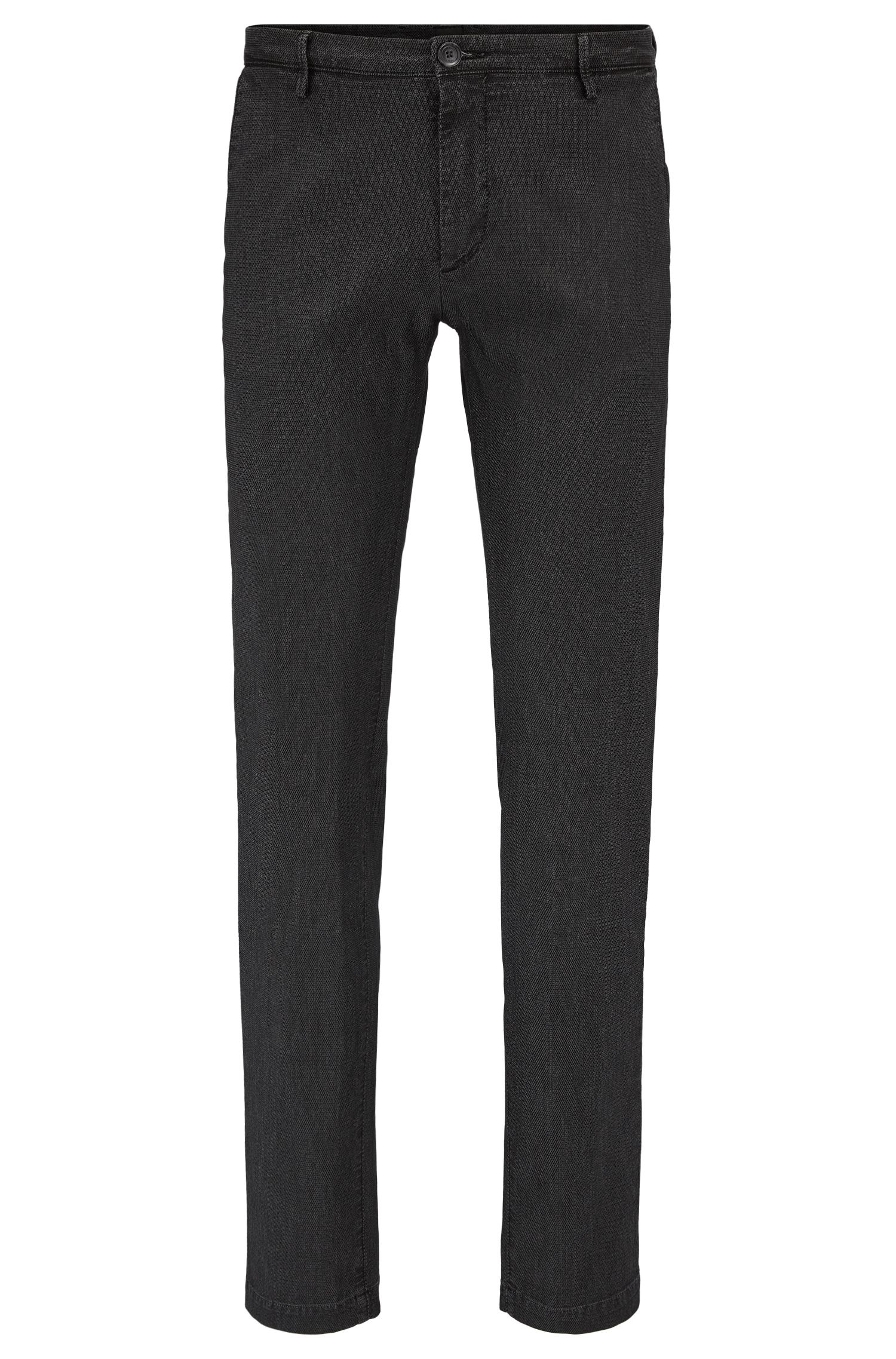 Slim-fit chinos in a textured stretch-cotton blend