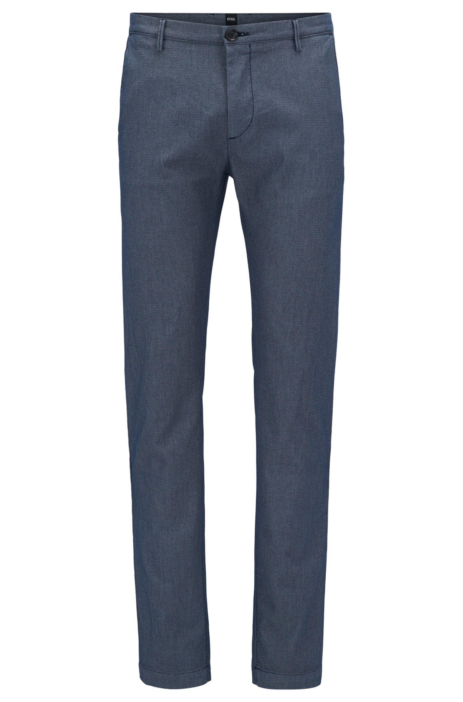 Chino Slim Fit en coton stretch mélangé texturé
