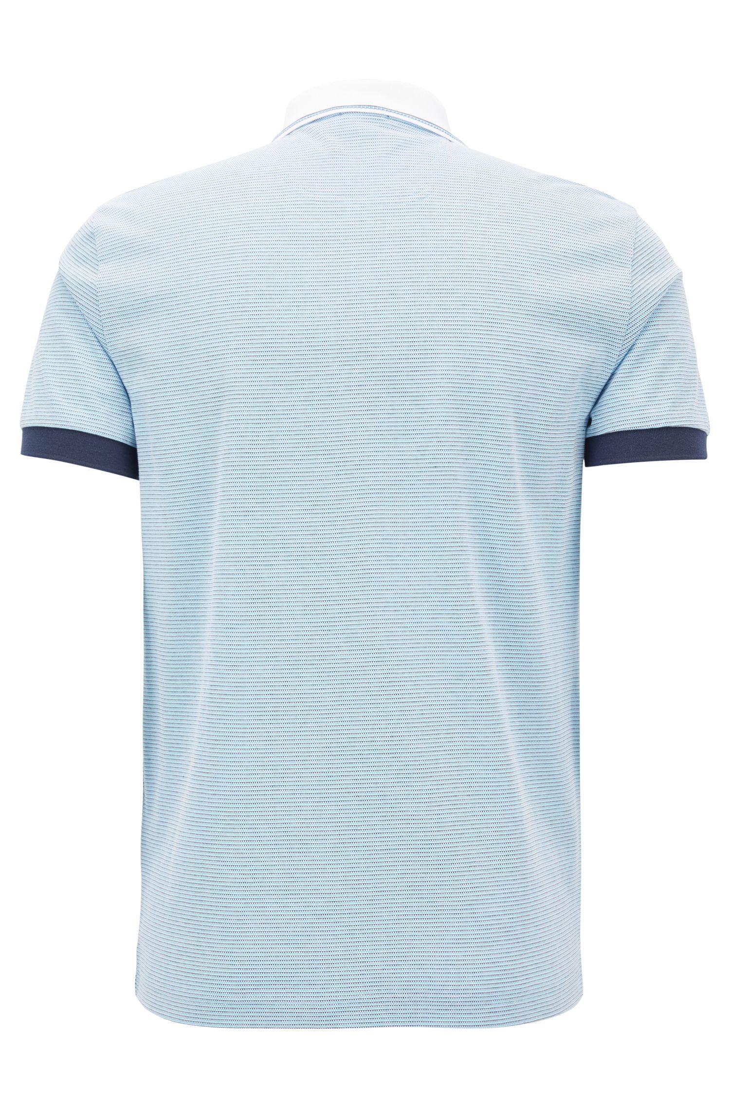 Poloshirt aus Baumwoll-Piqué mit kontrastfarbenen Details