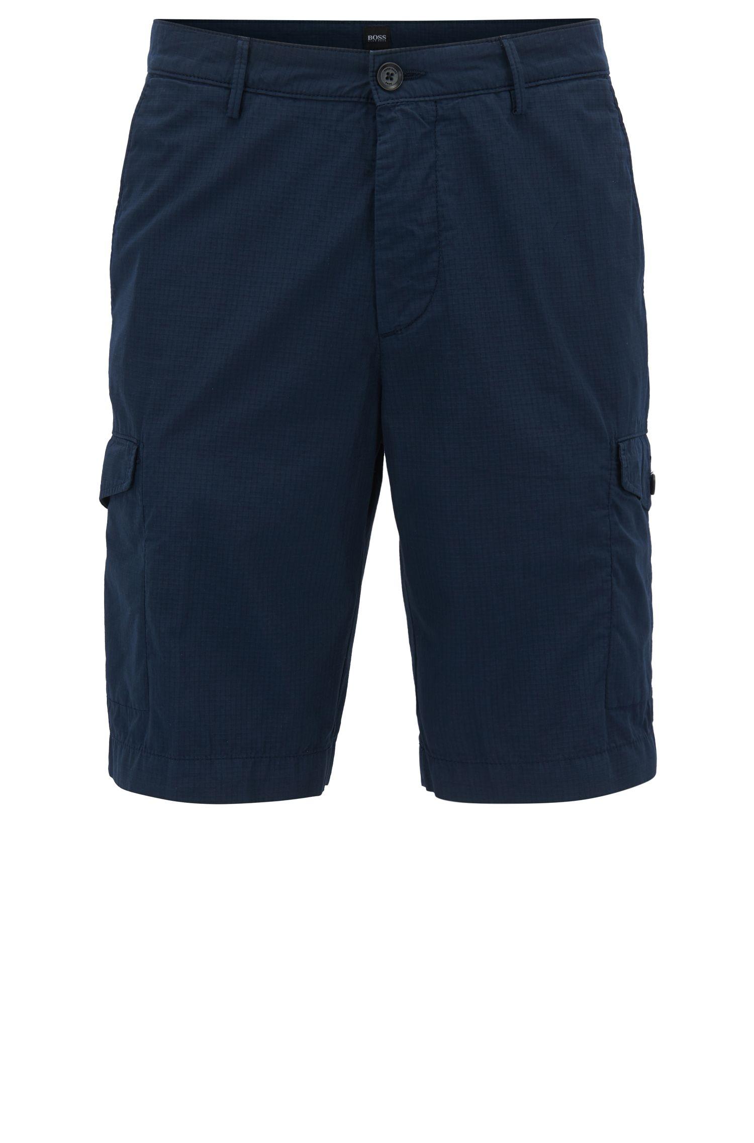 Pantaloncini cargo in cotone ripstop realizzato in Italia