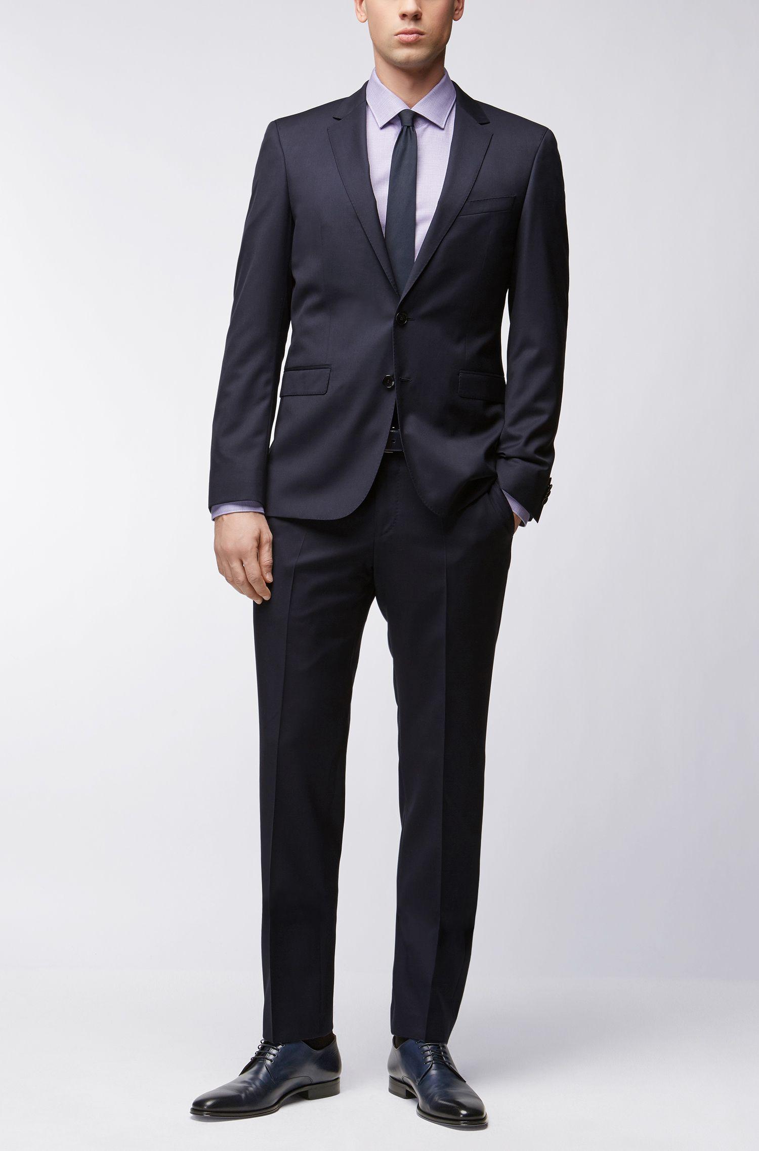 Slim-fit katoenen overhemd met een all-over fijne textuur