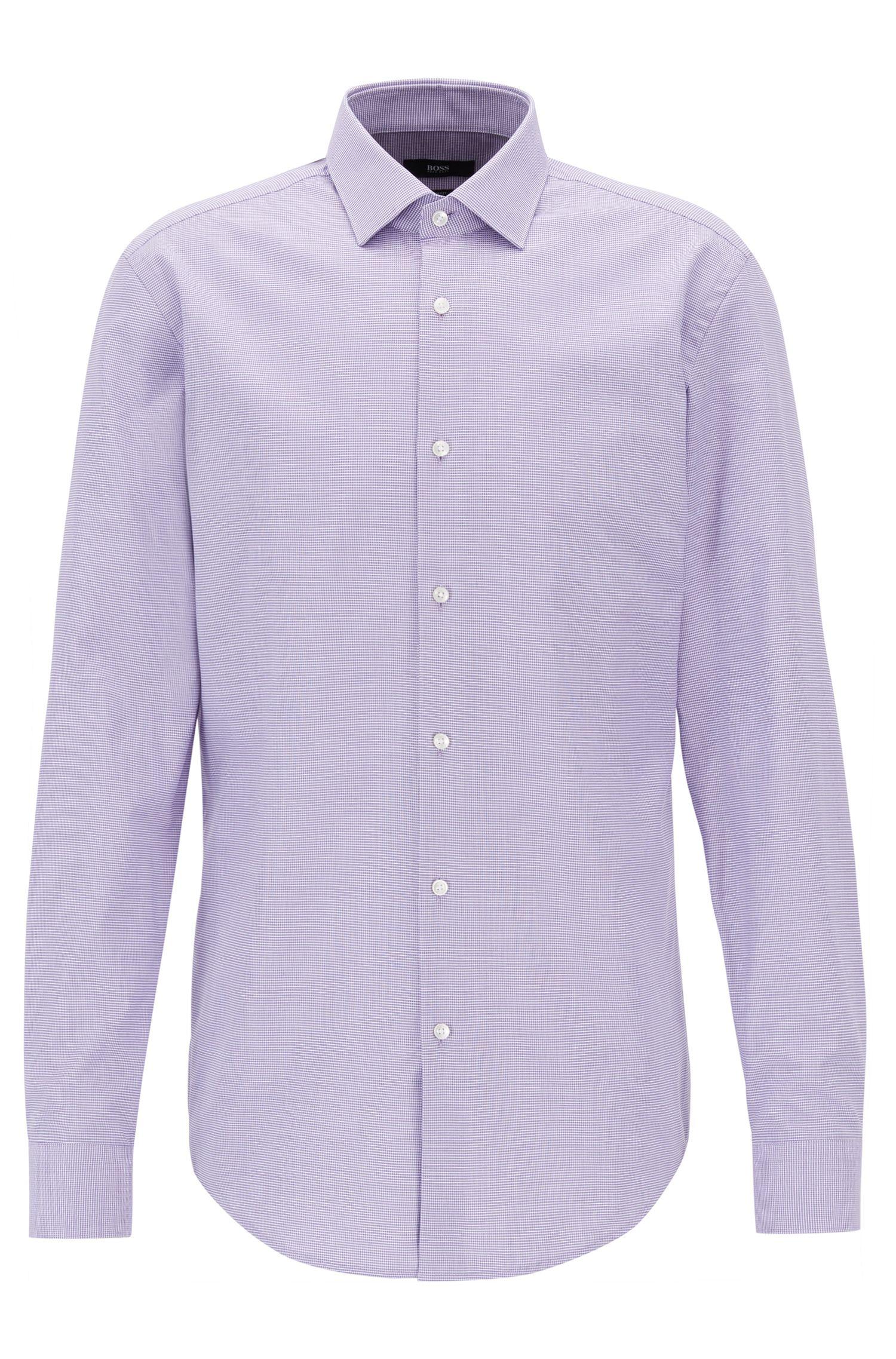Slim-Fit Hemd aus filigran gemusterter Baumwolle