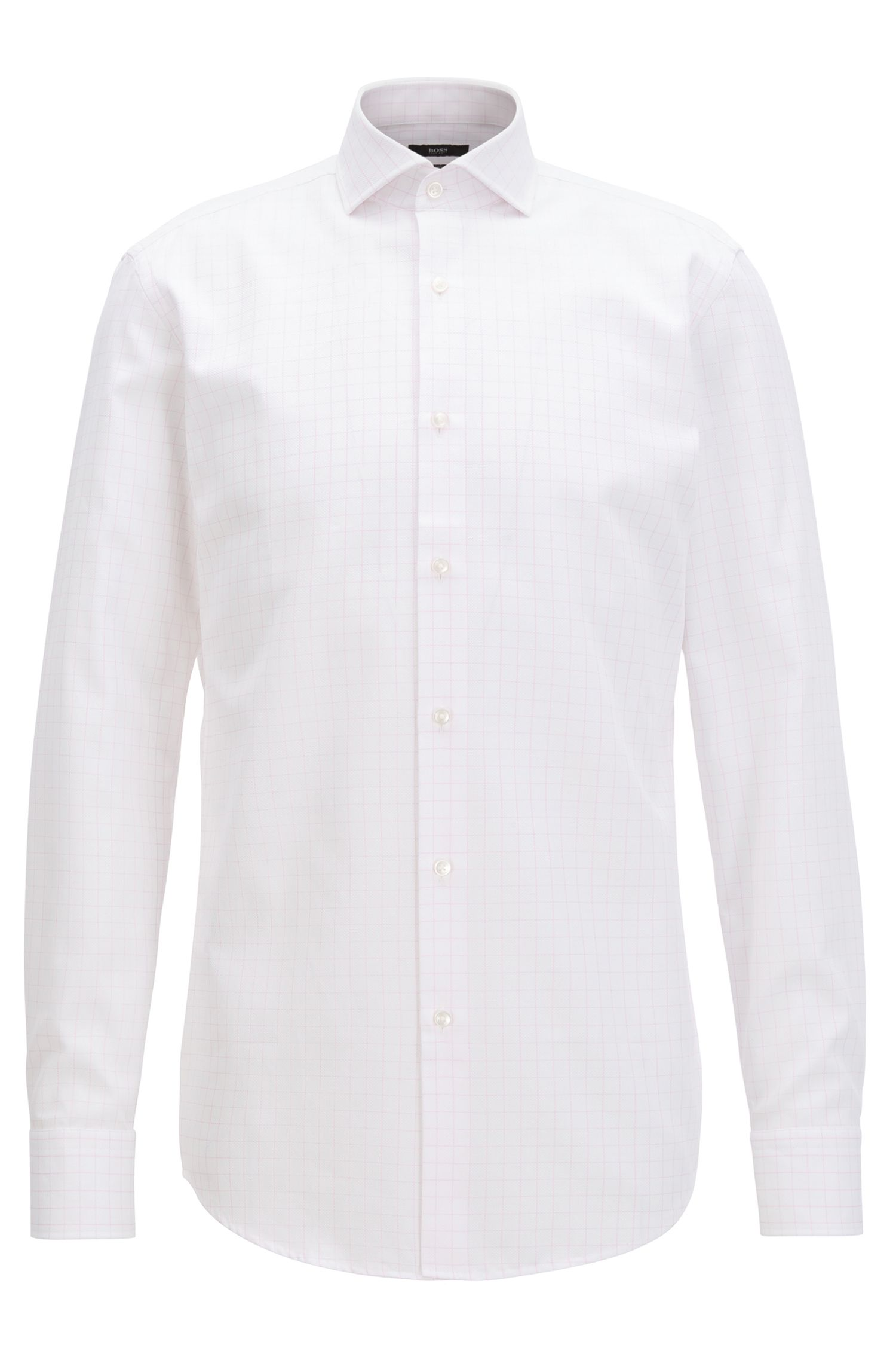 Piqué-cotton shirt in a slim fit