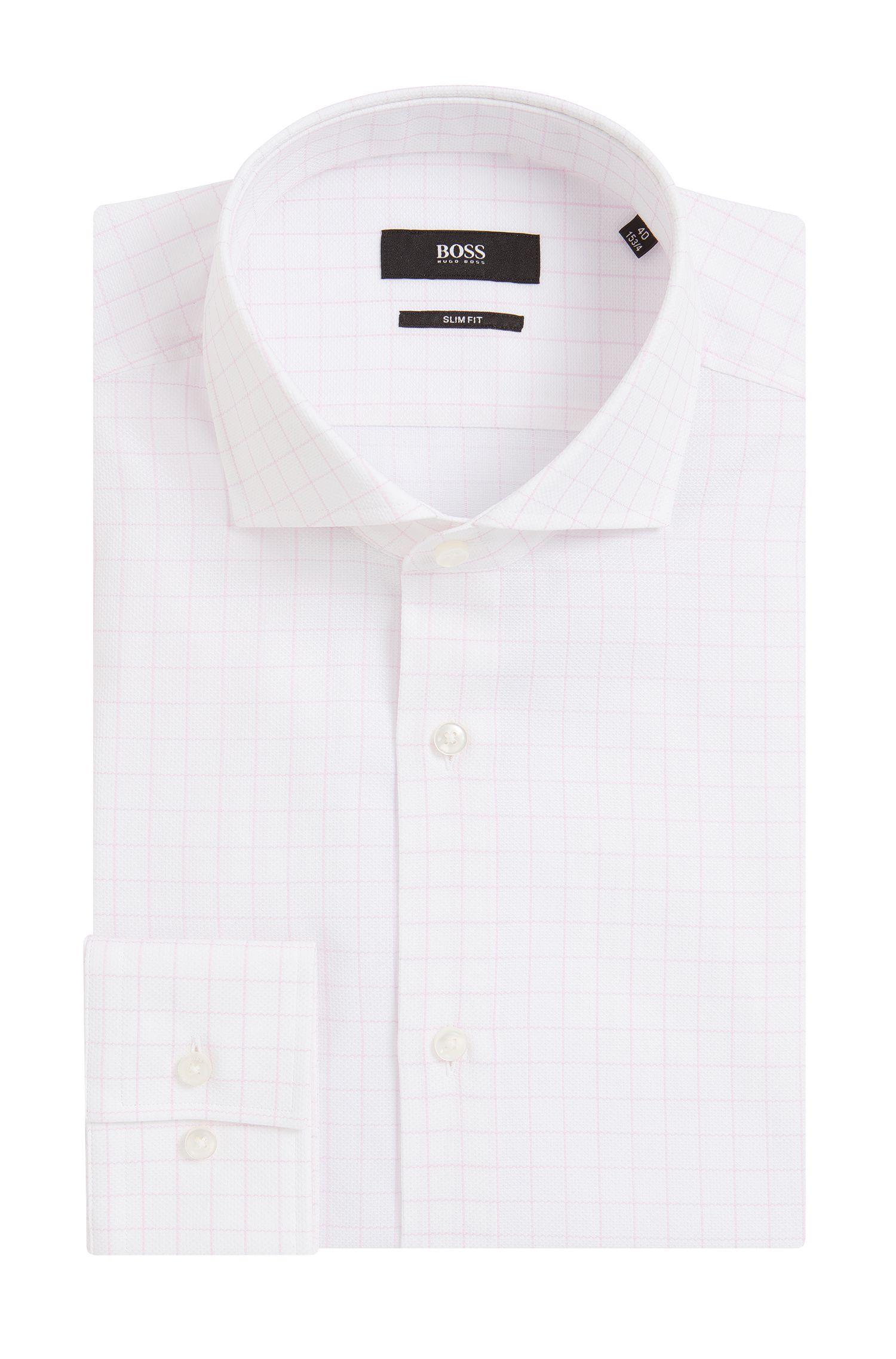 Slim-Fit Hemd aus Baumwoll-Piqué
