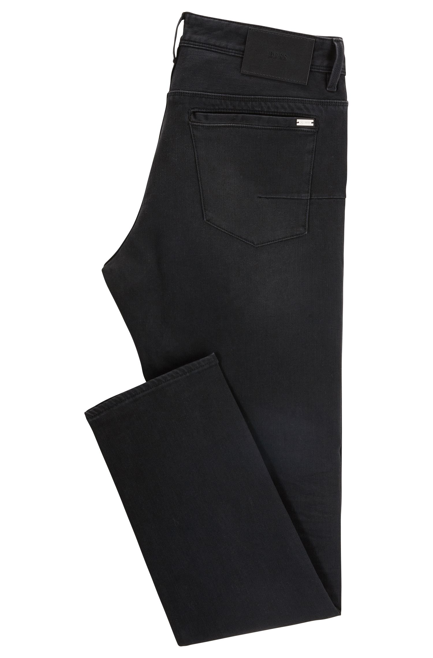 Jeans slim fit in denim elasticizzato nero