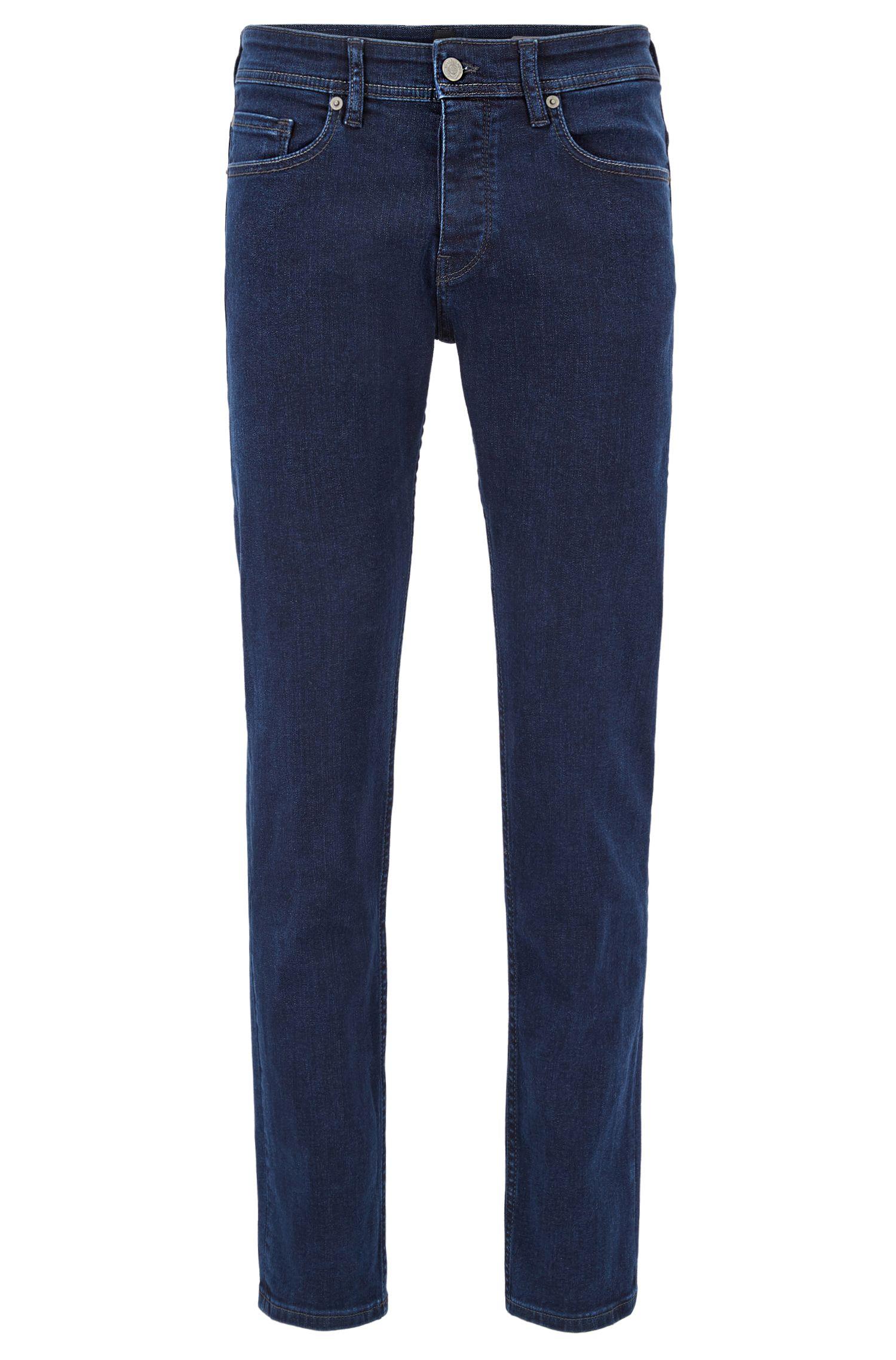 Tapered-Fit Jeans aus Super-Stretch-Denim im Used-Look