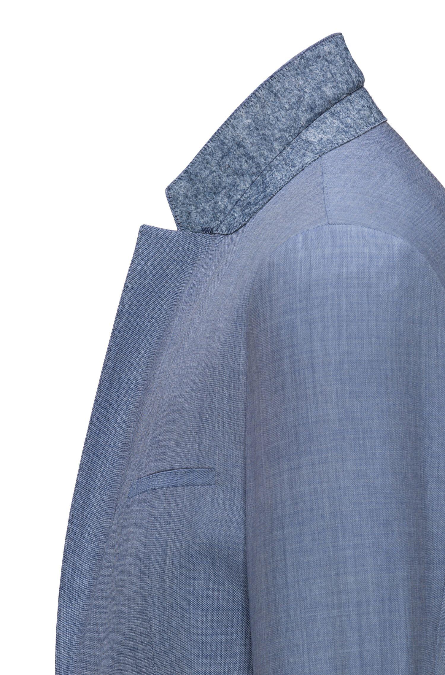 Costume Extra Slim Fit en sergé de laine vierge chinée