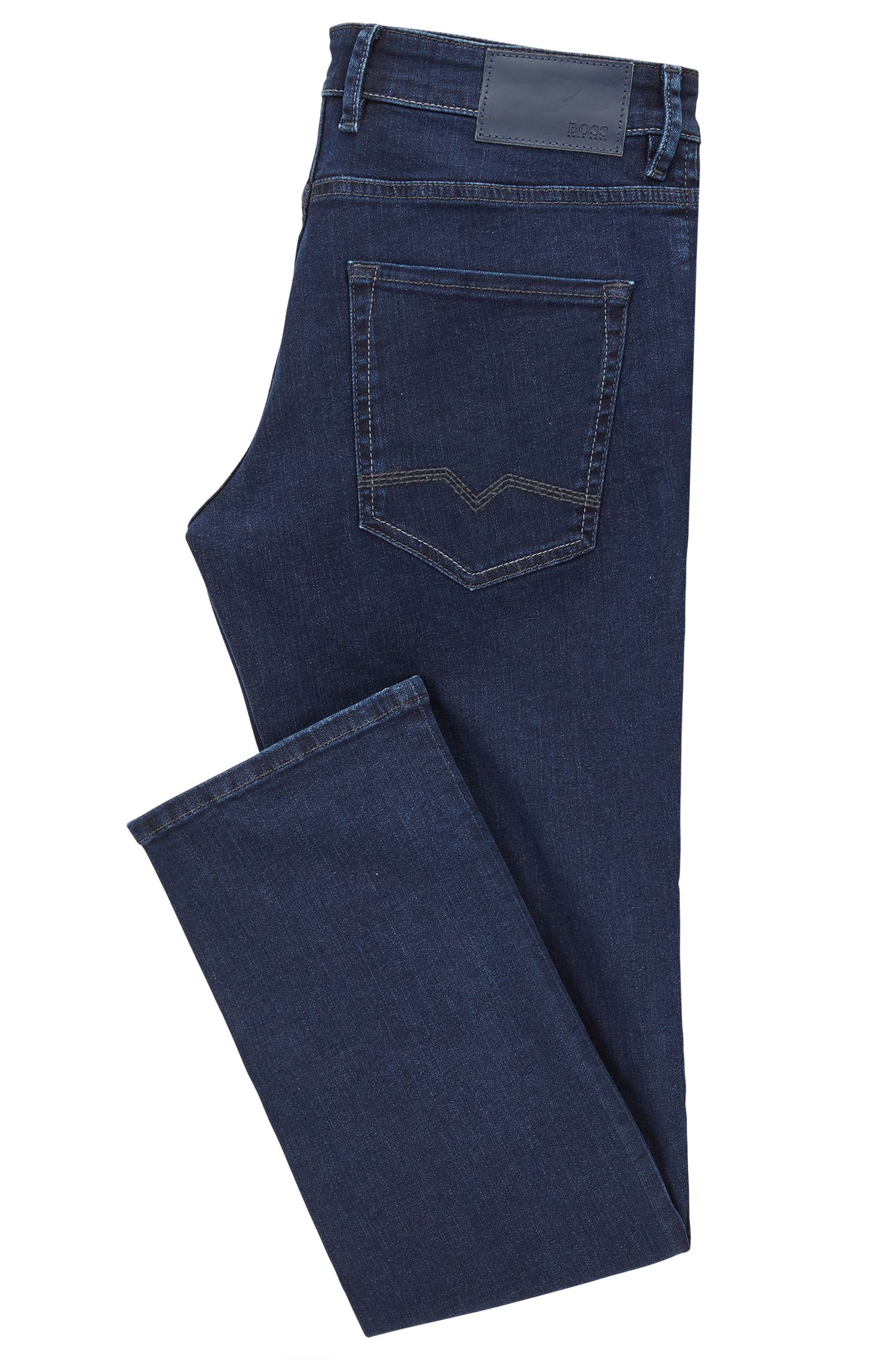 Regular-Fit Jeans aus gewaschenem Super-Stretch-Denim
