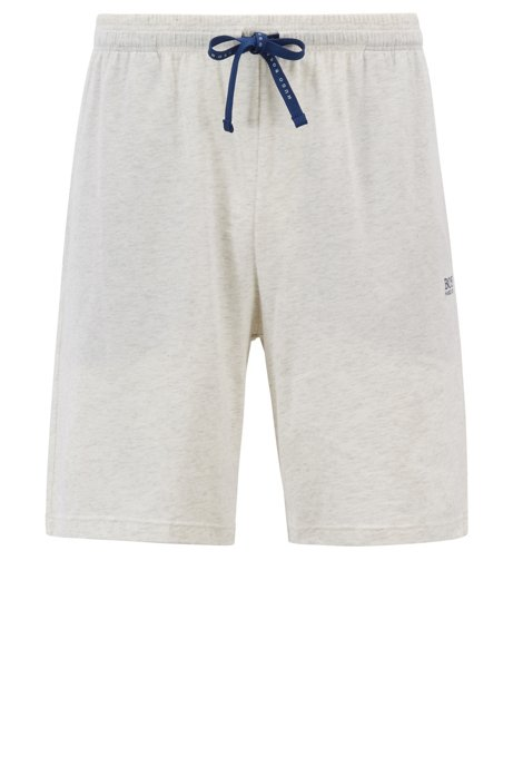 4255cb5a5 BOSS - Loungewear shorts in stretch cotton jersey with drawstring waist