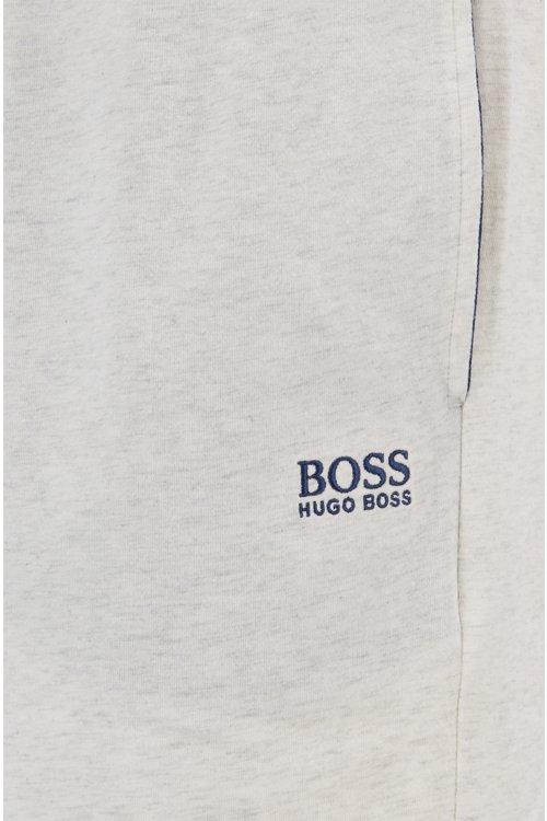 Hugo Boss - Shorts loungewear en punto de algodón elástico con cordón en la cintura - 2