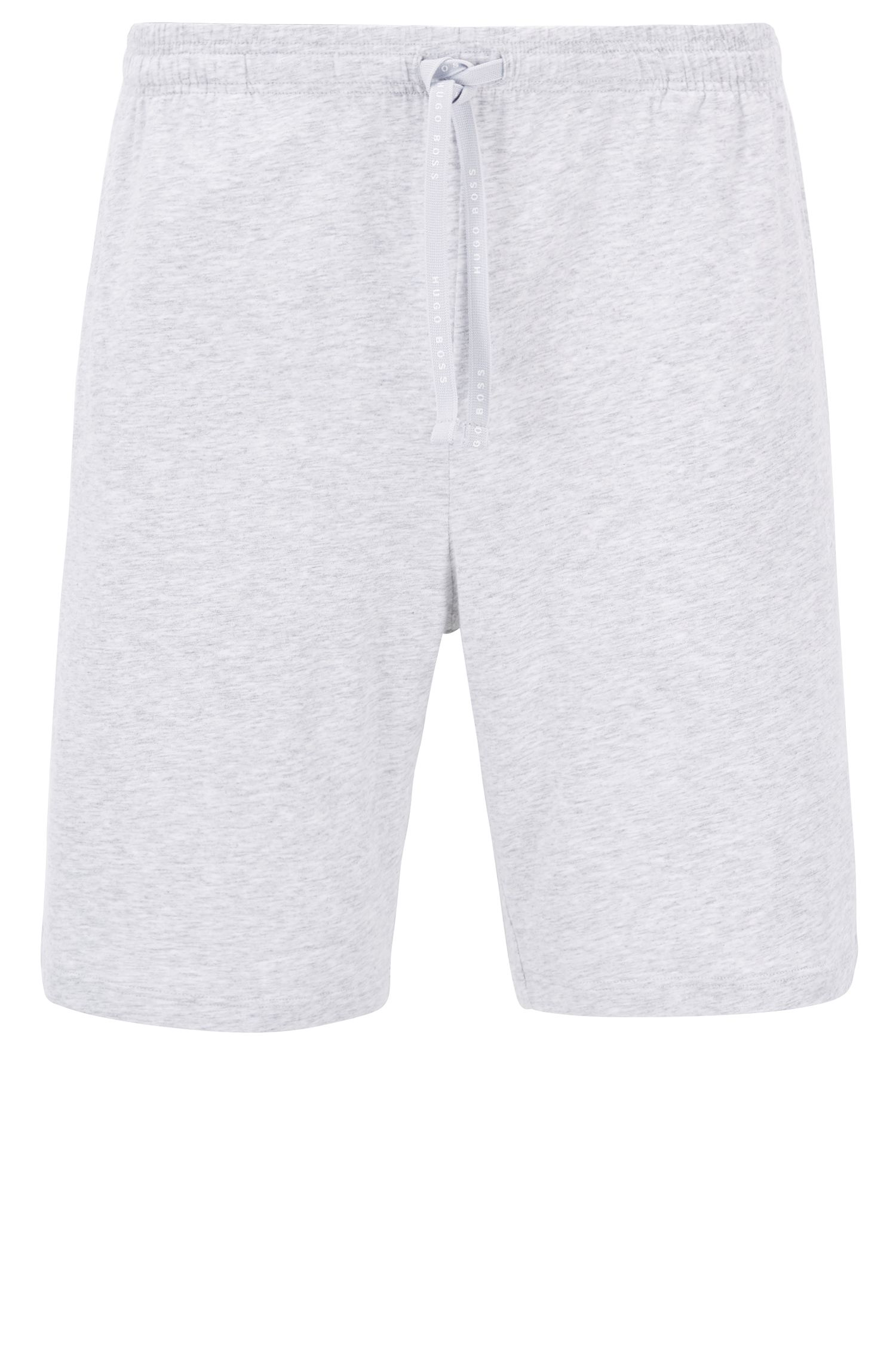 Loungewear shorts in stretch cotton jersey with drawstring waist