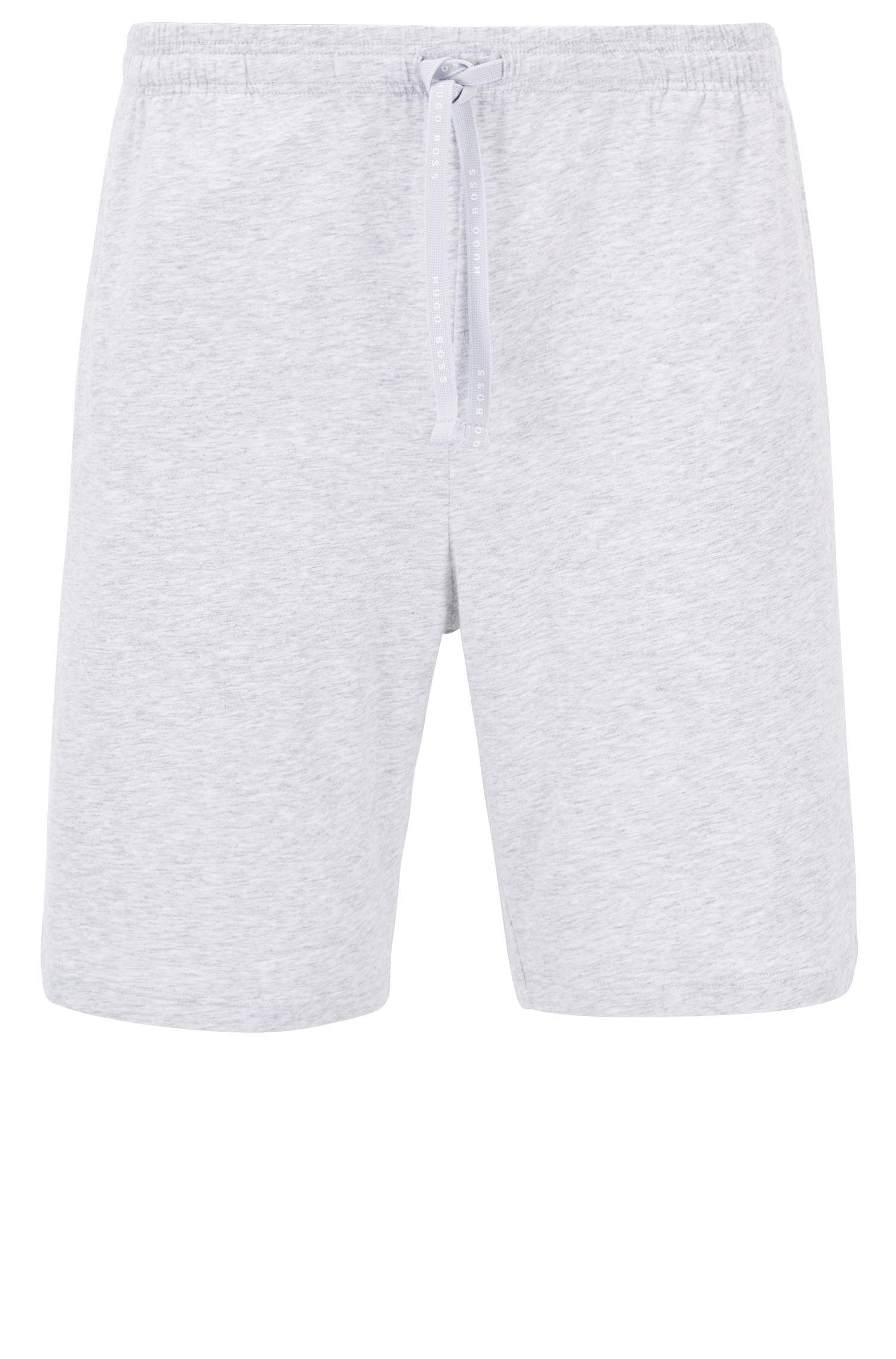 Shorts loungewear en punto de algodón elástico con cordón en la cintura