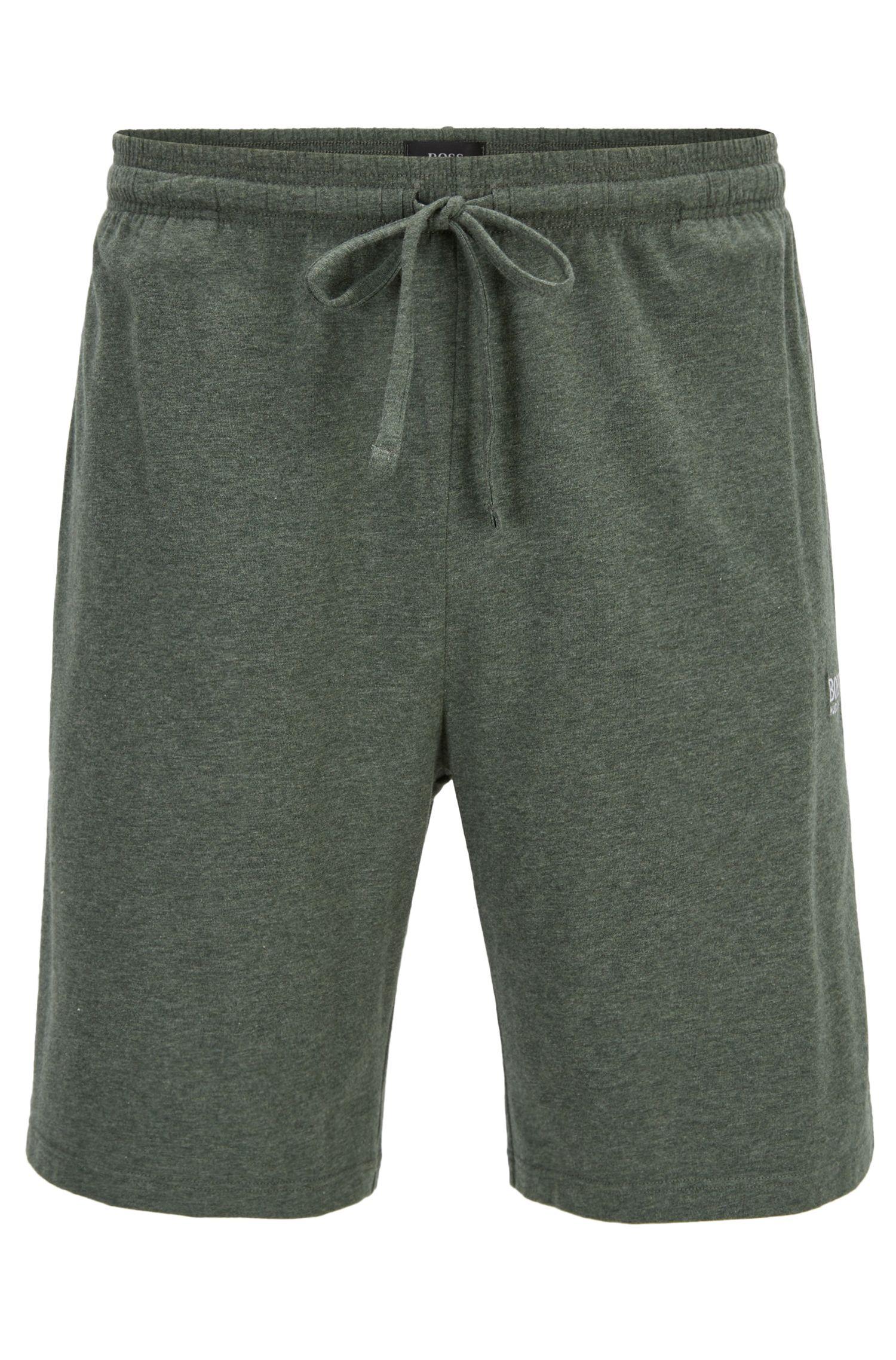 Short d'intérieur en jersey de coton stretch doté d'une taille avec cordon de serrage