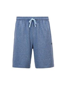 Loungewear-Shorts aus elastischer Stretch-Baumwolle mit Taillen-Tunnelzug, Hellblau