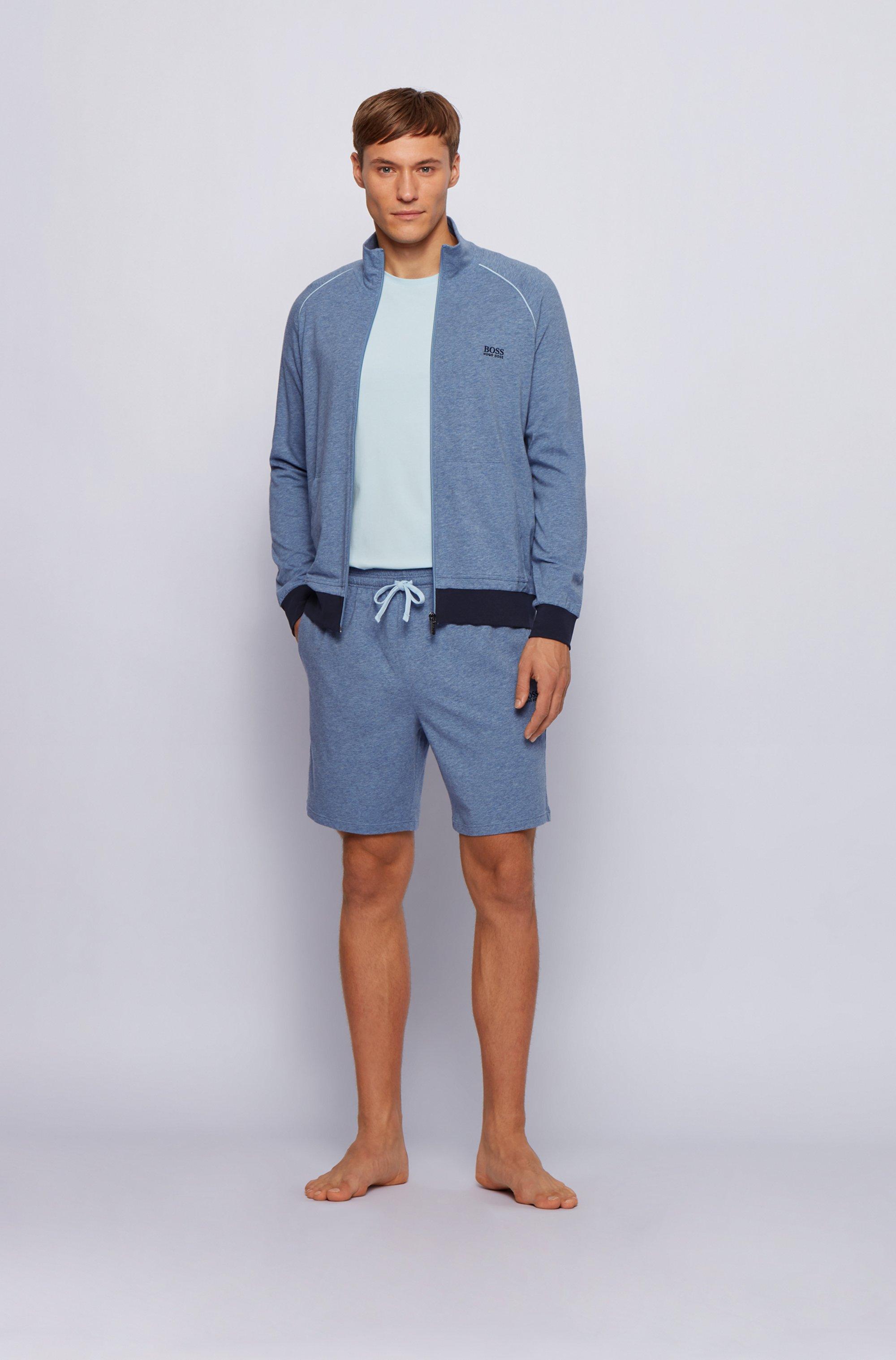 Loungewear-Shorts aus elastischer Stretch-Baumwolle mit Taillen-Tunnelzug