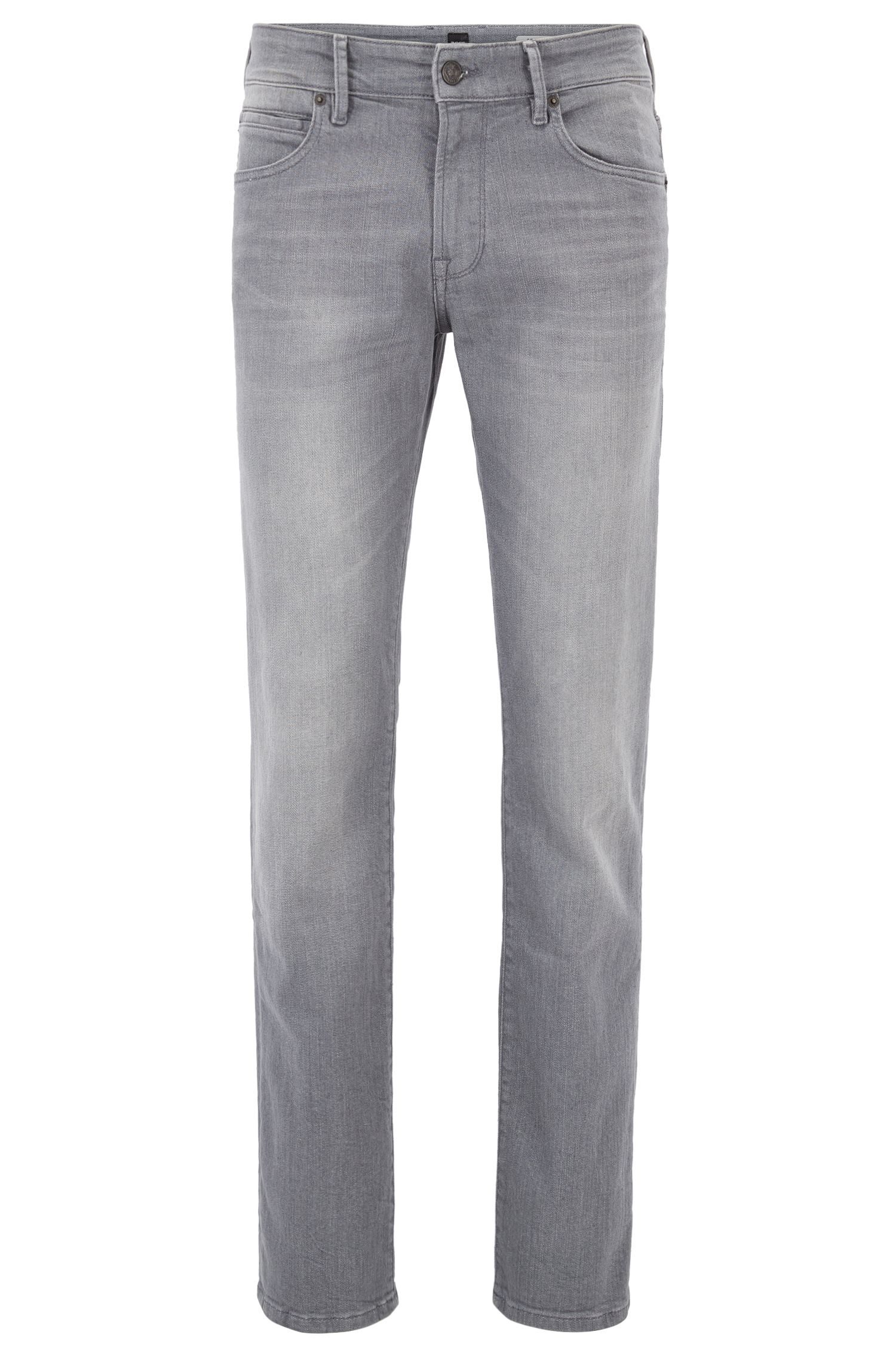 Regular-Fit Jeans aus komfortablem Stretch-Denim im Used-Look