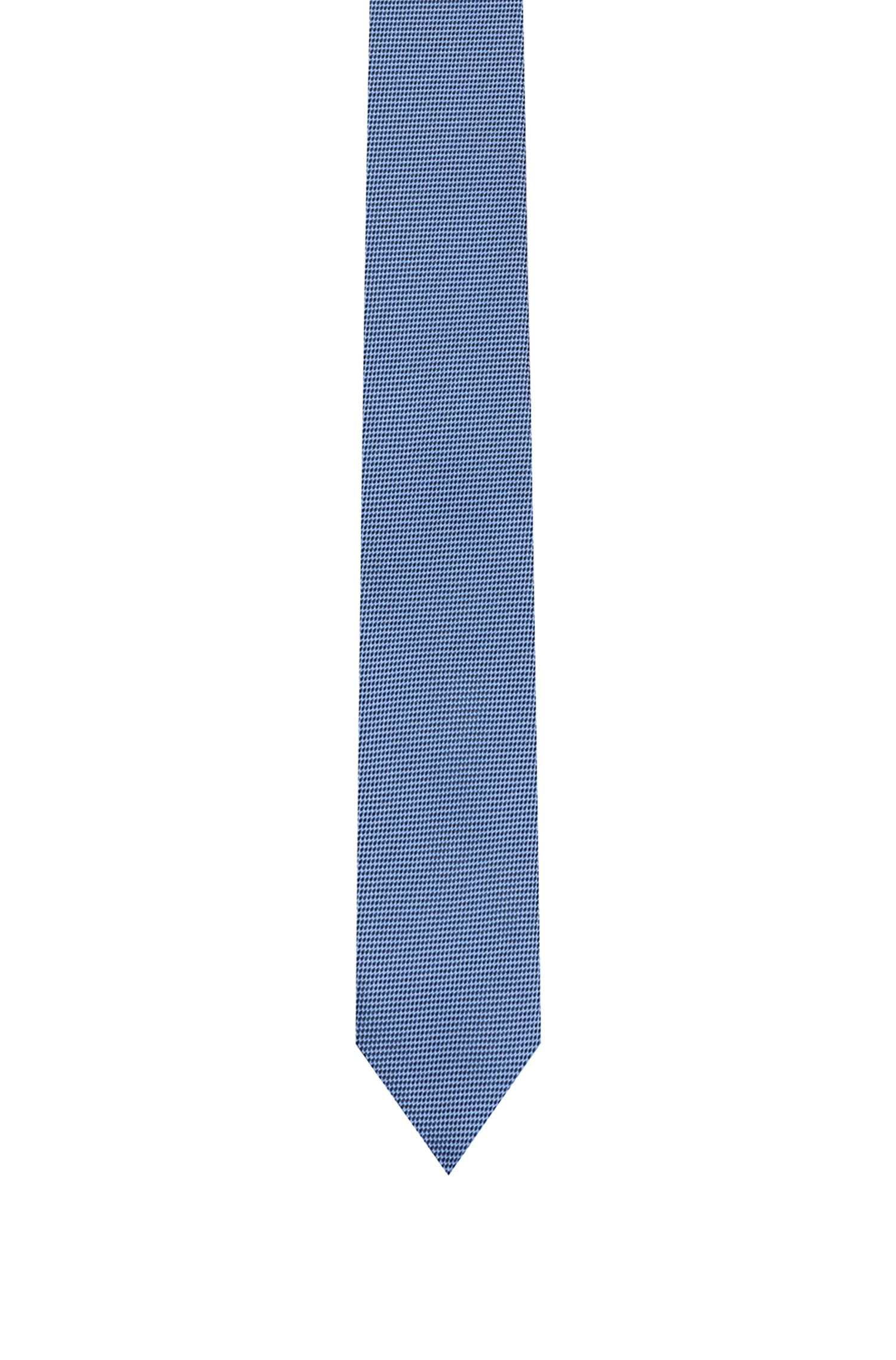 Silk tie in textured jacquard, Patterned