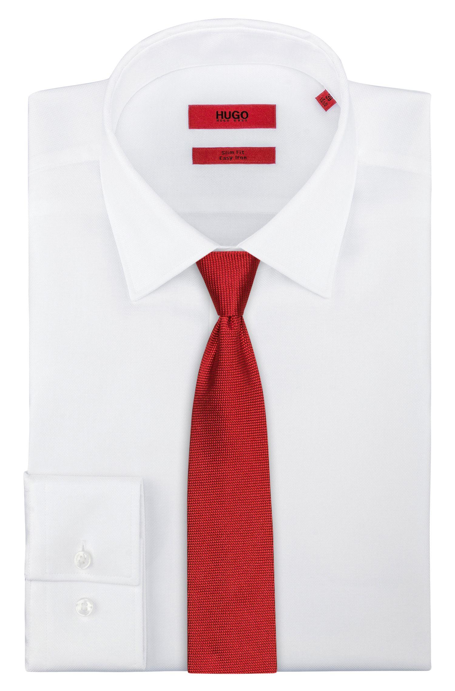 Zijden stropdas in een gestructureerde jacquard
