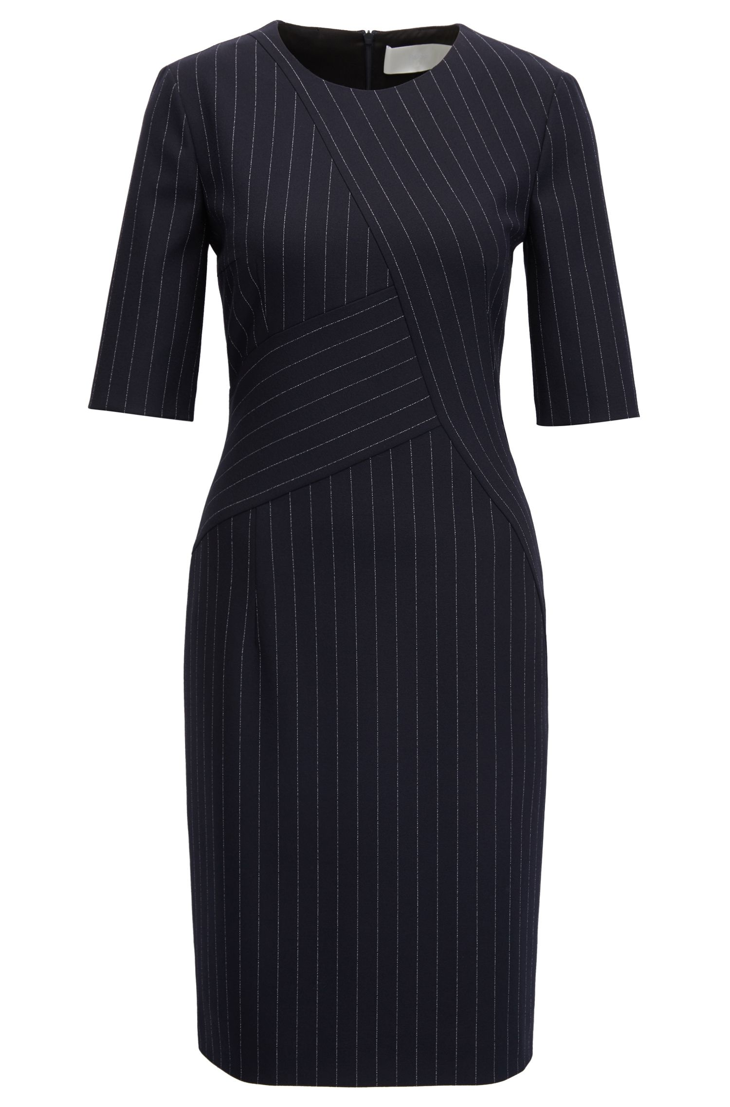 Pinstripe dress in midweight fabric