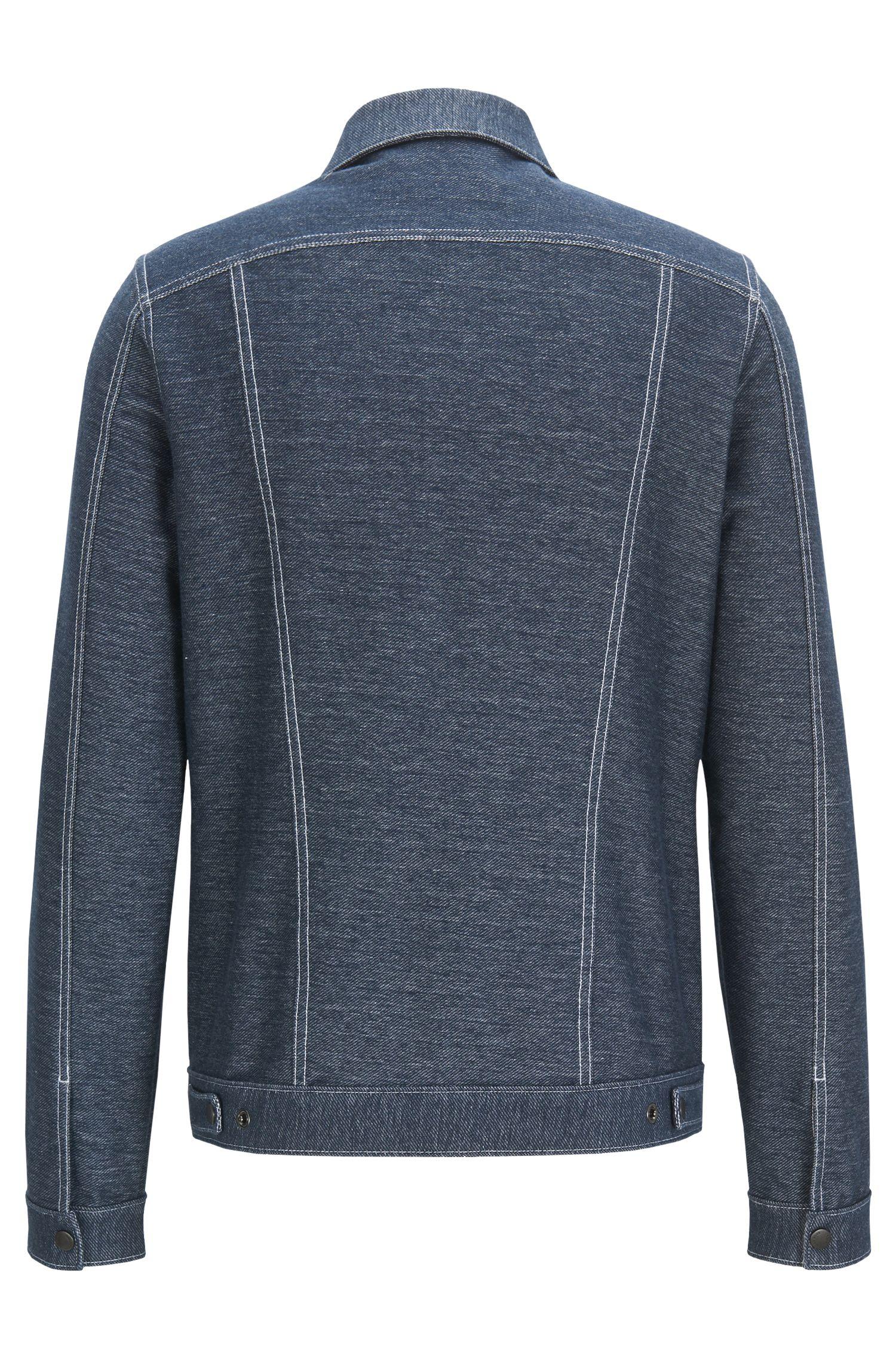 Veste Regular Fit en coton à effet denim