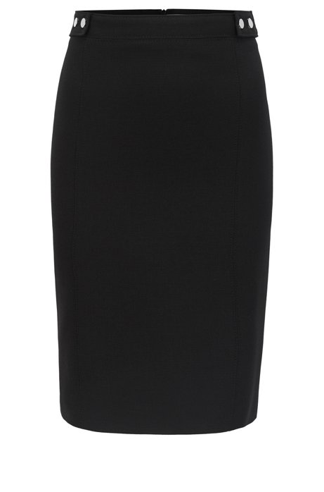 Sale Geniue Stockist Cheap Sale Good Selling Pencil skirt in stretch virgin wool with stud details BOSS Cheap Free Shipping Official Site Purchase Your Favorite t4lV6xB