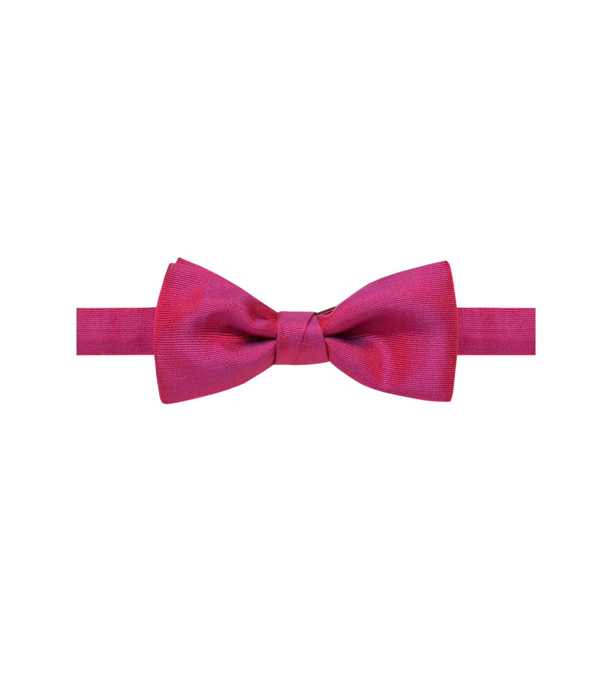 Silk-blend bow tie in a textured weave, Red