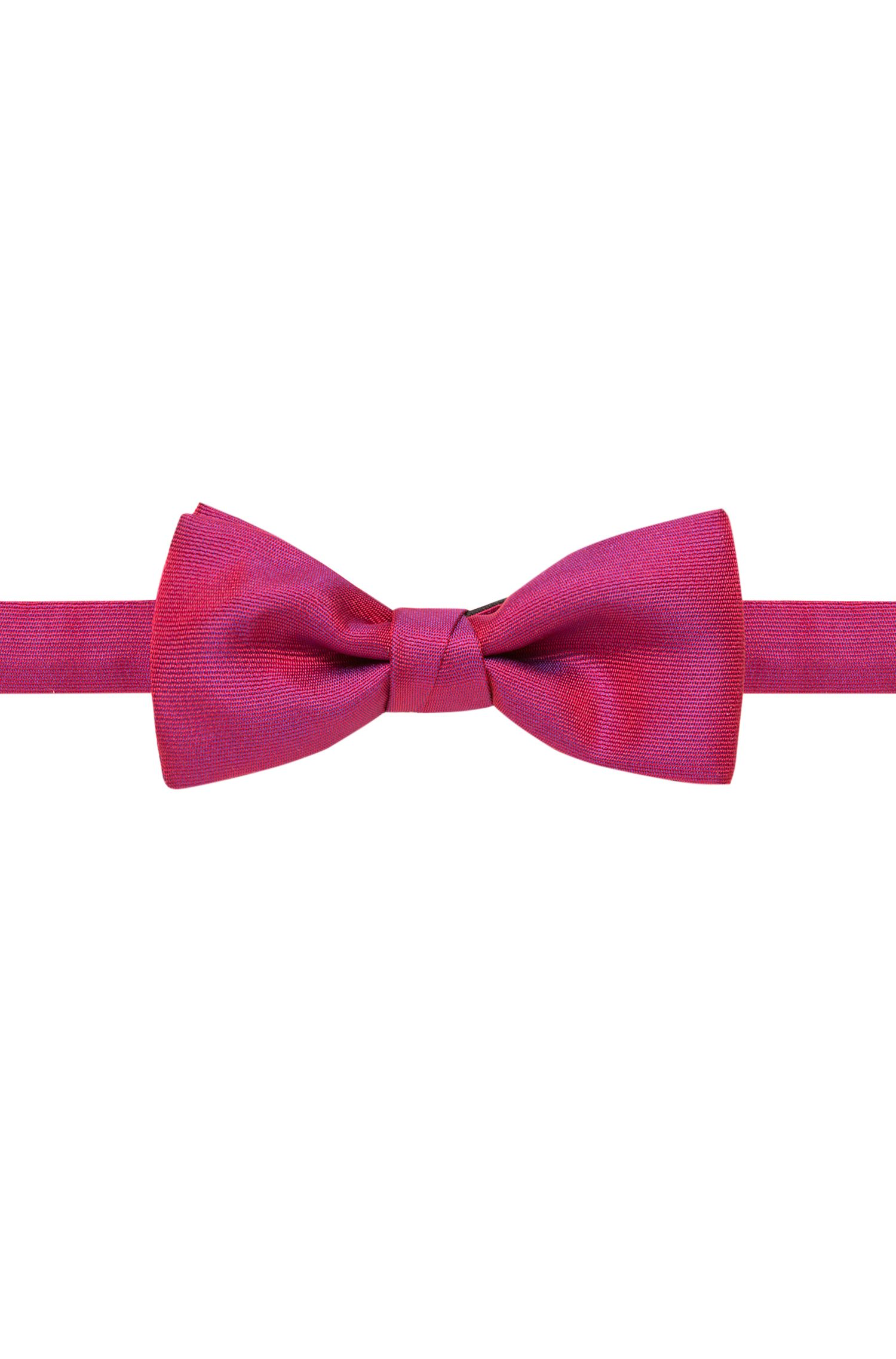 Silk-blend bow tie in a textured weave