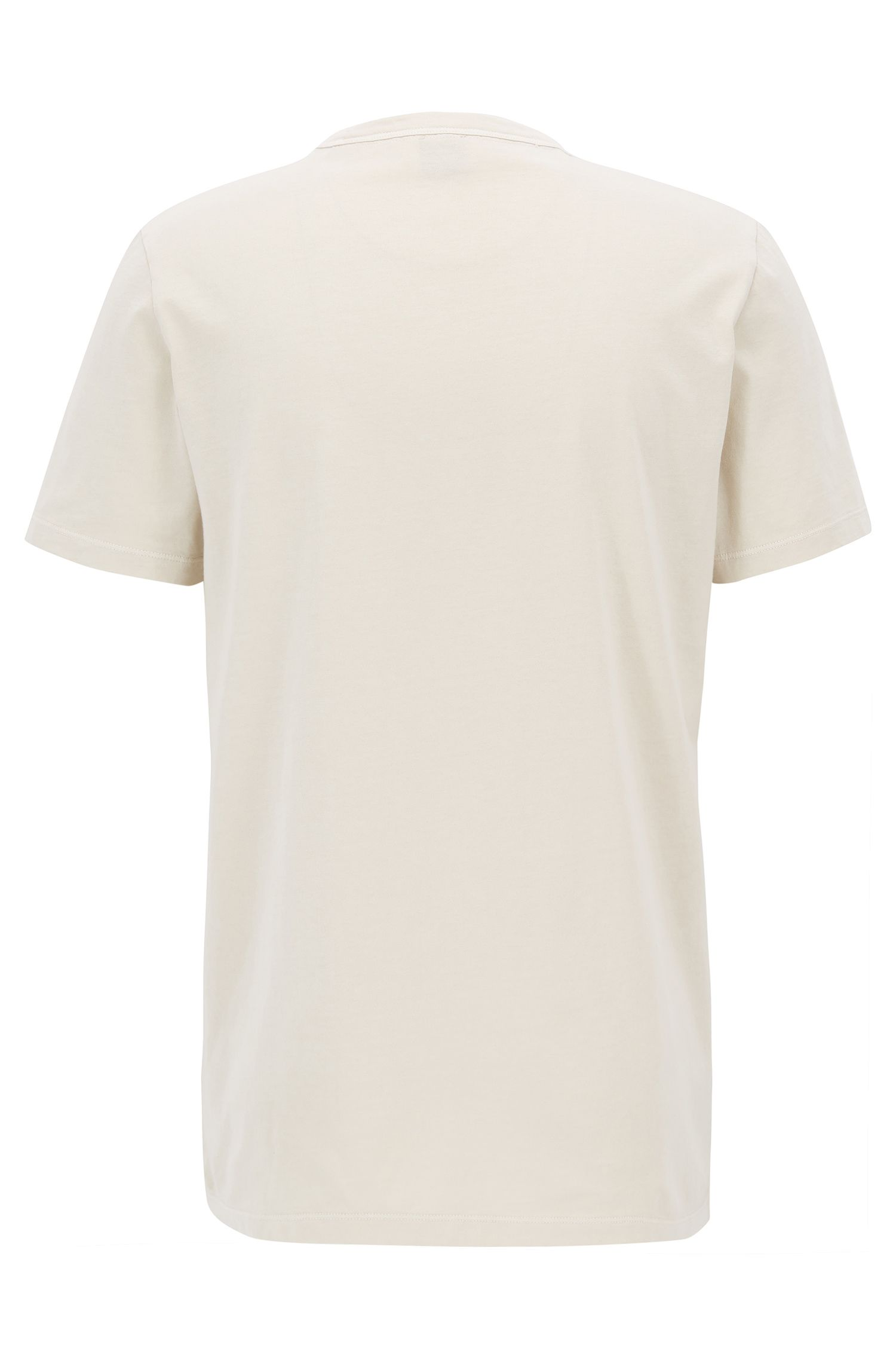 Slim-fit T-shirt van garment-washed katoen