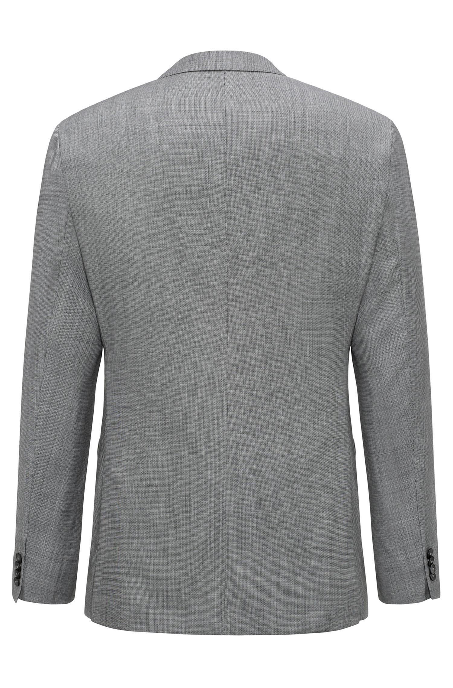 Gemusterter Regular-Fit Anzug aus Schurwoll-Mix