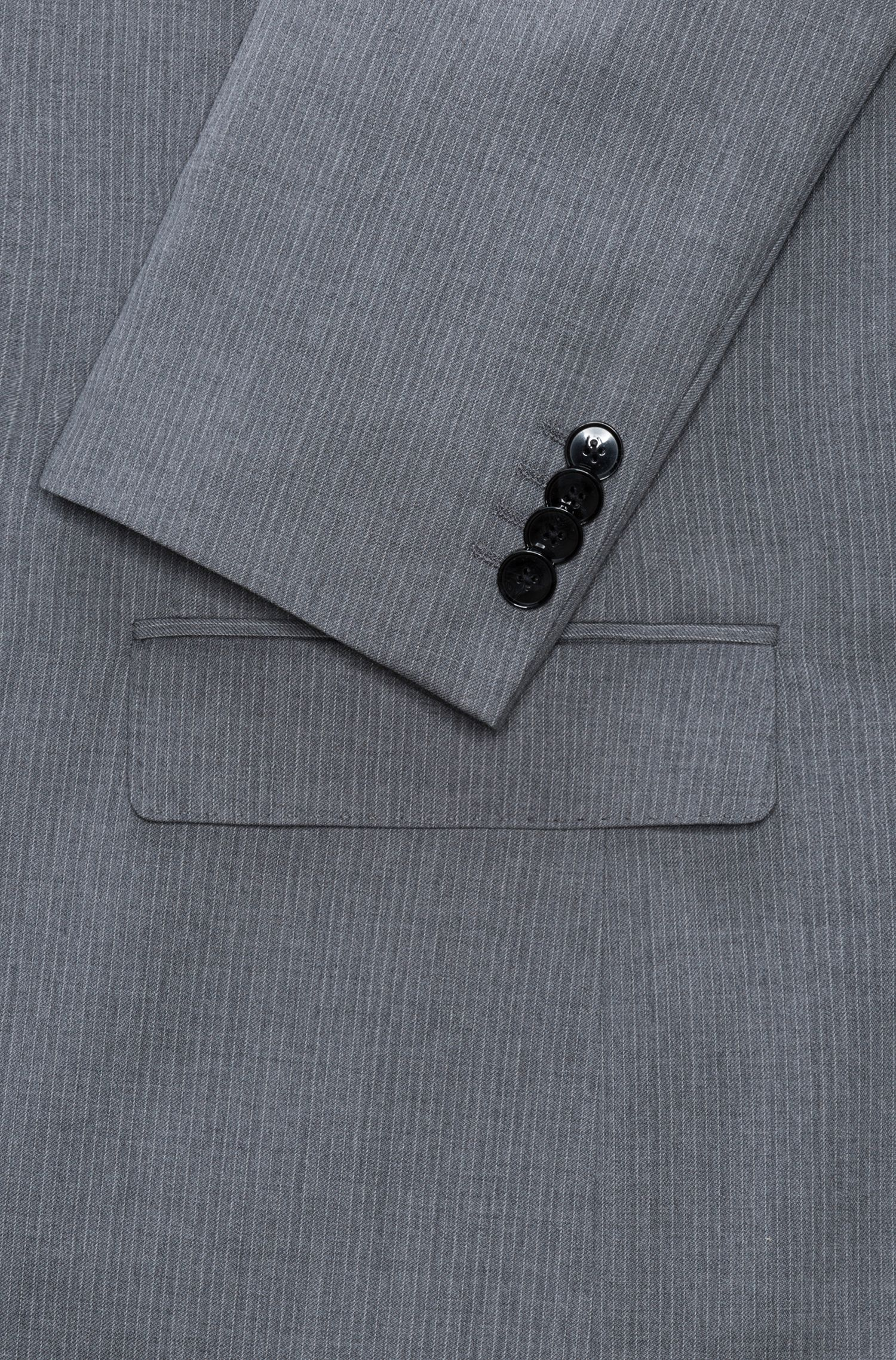 Regular-fit pinstripe suit in virgin wool