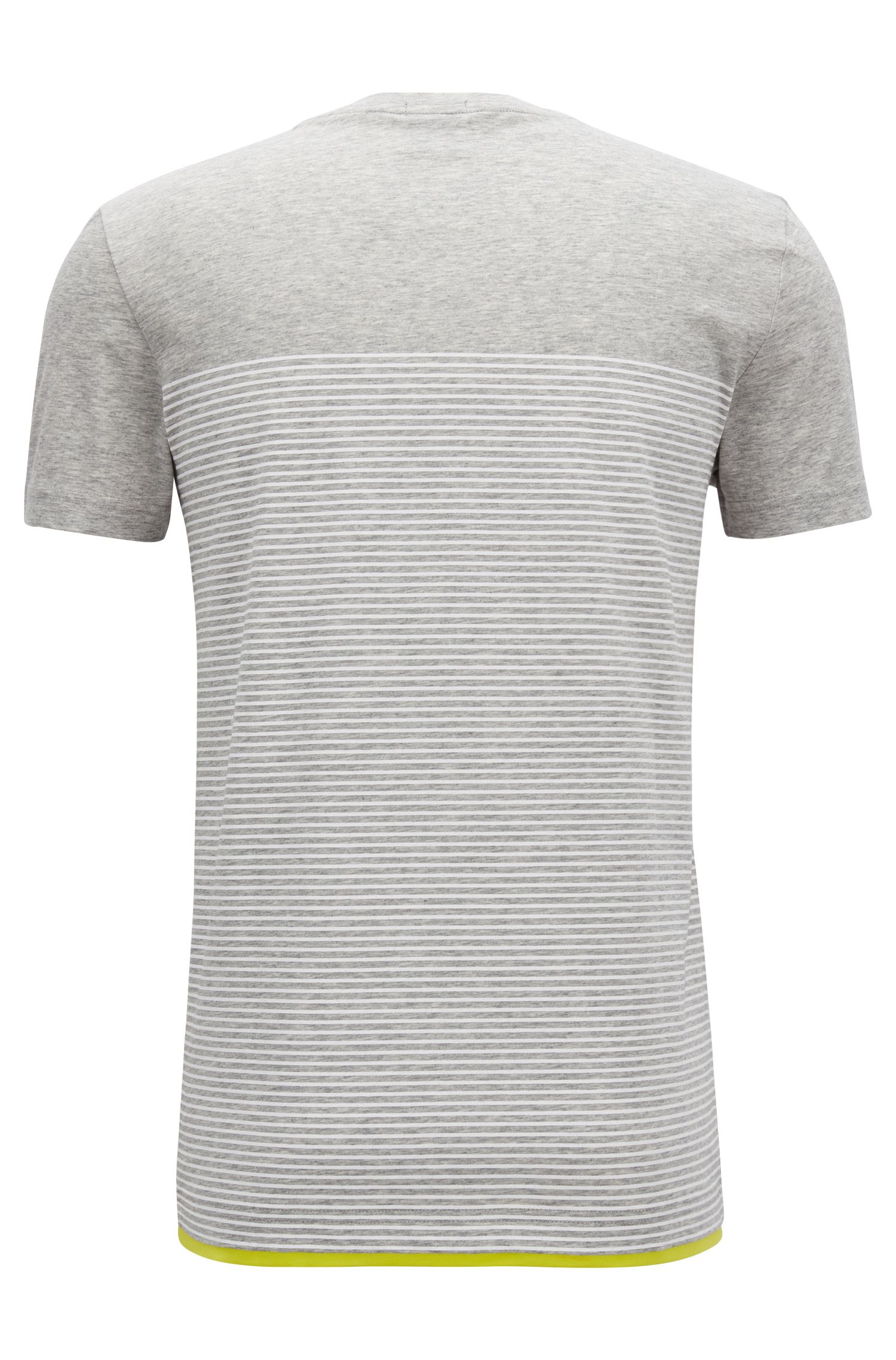 T-shirt a righe slim fit in cotone