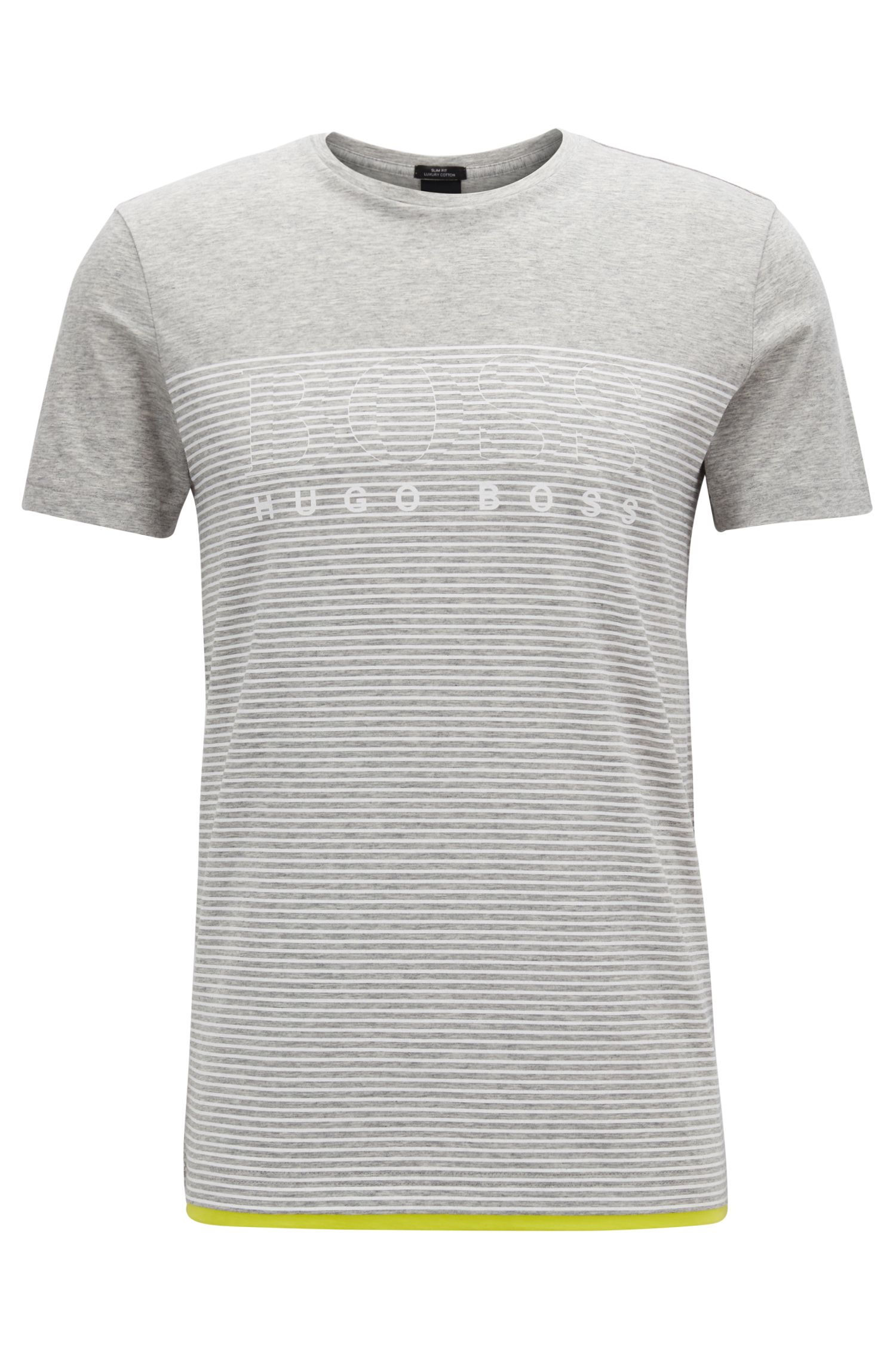Slim-fit gestreept T-shirt van katoen