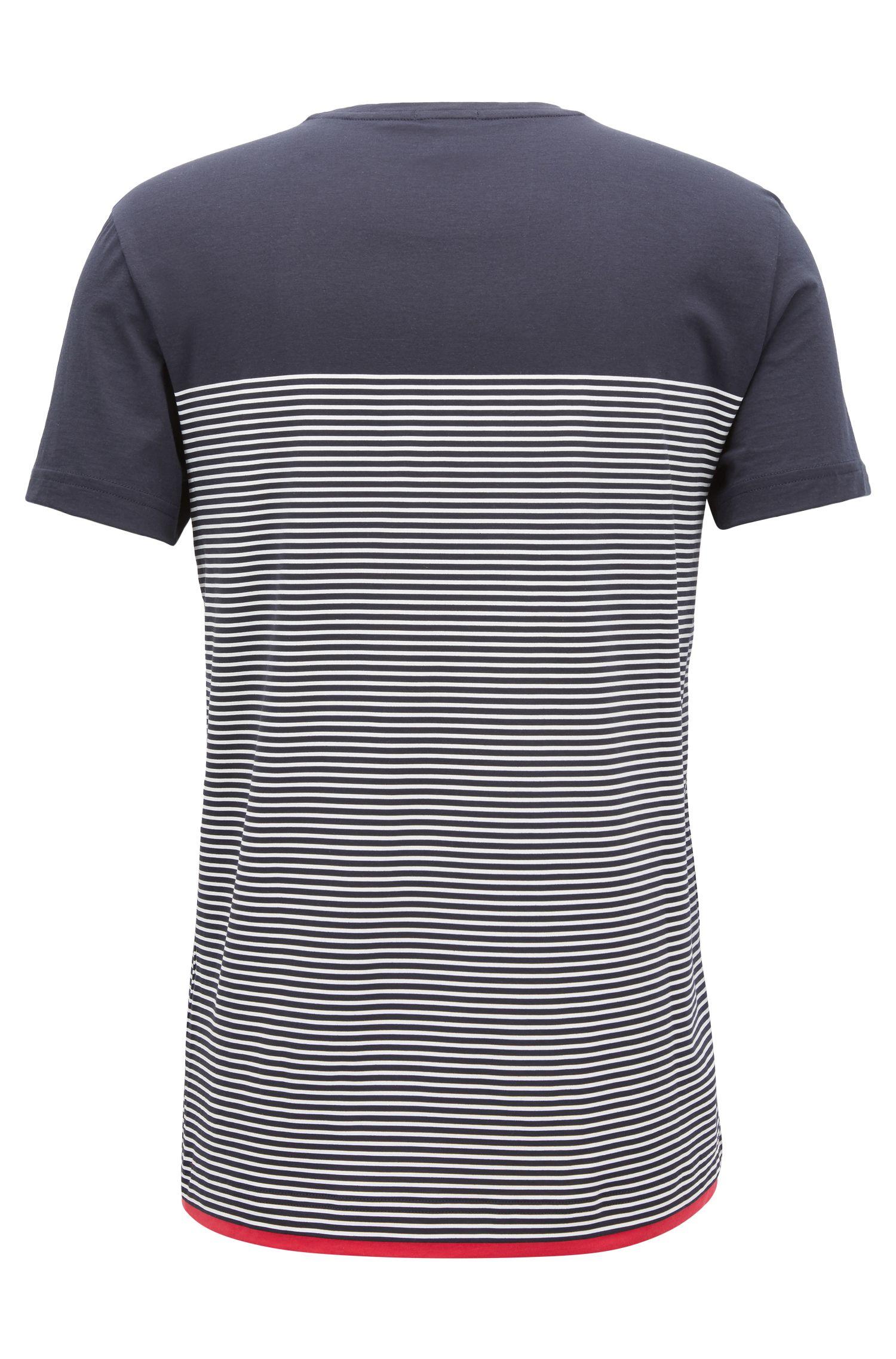 Camiseta a rayas slim fit en algodón
