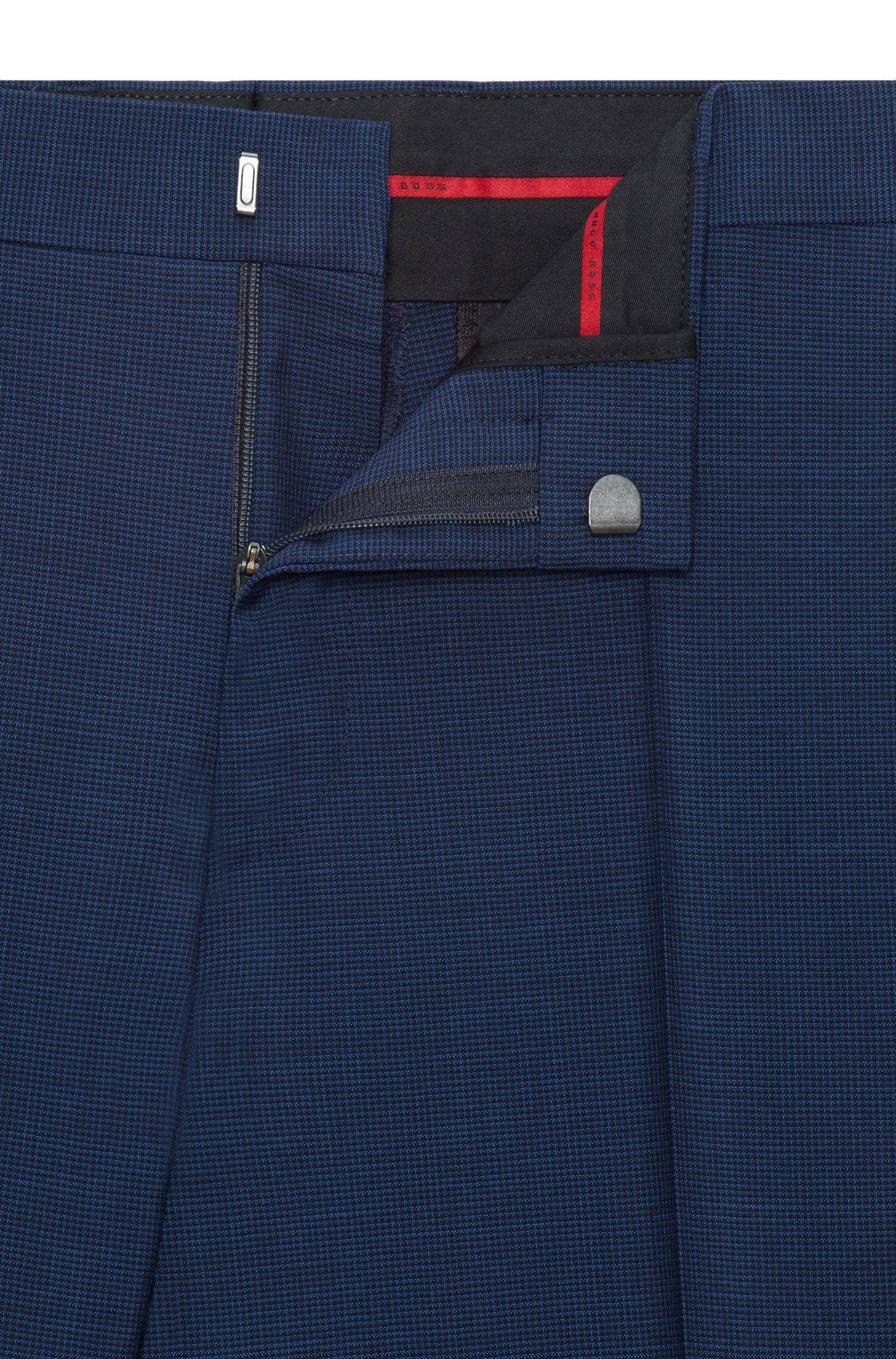 Costume Slim Fit en laine vierge à micro-carreaux
