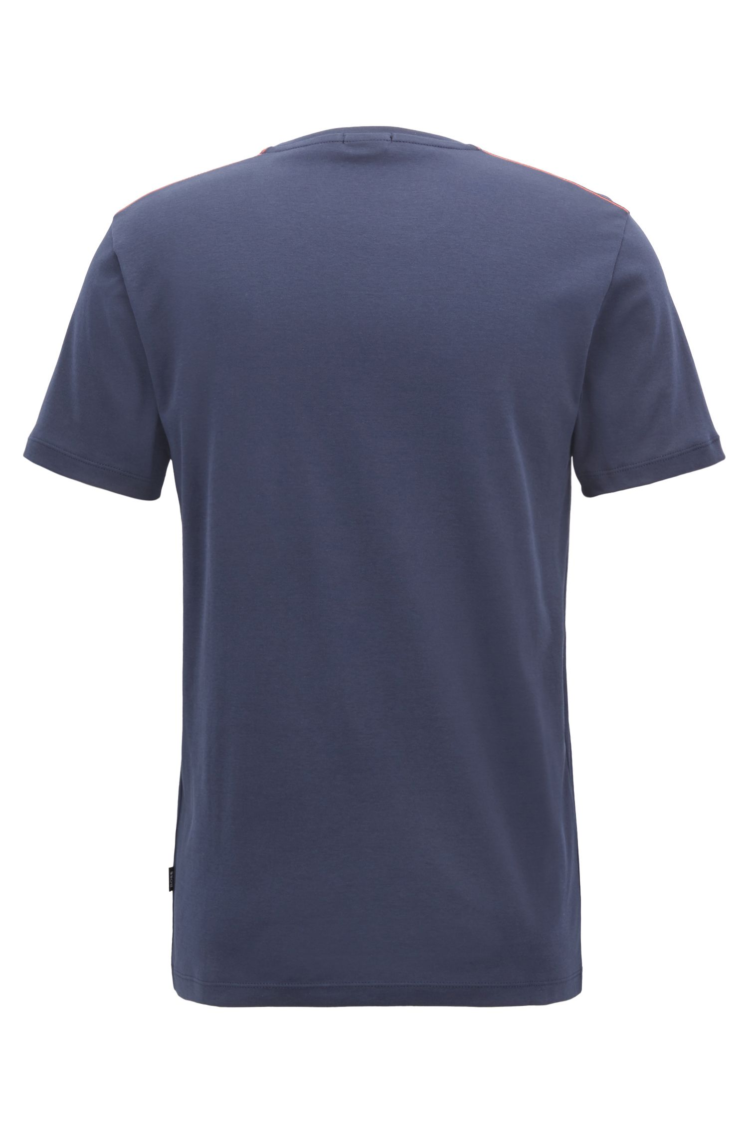 T-shirt Slim Fit en coton interlock à imprimé marin