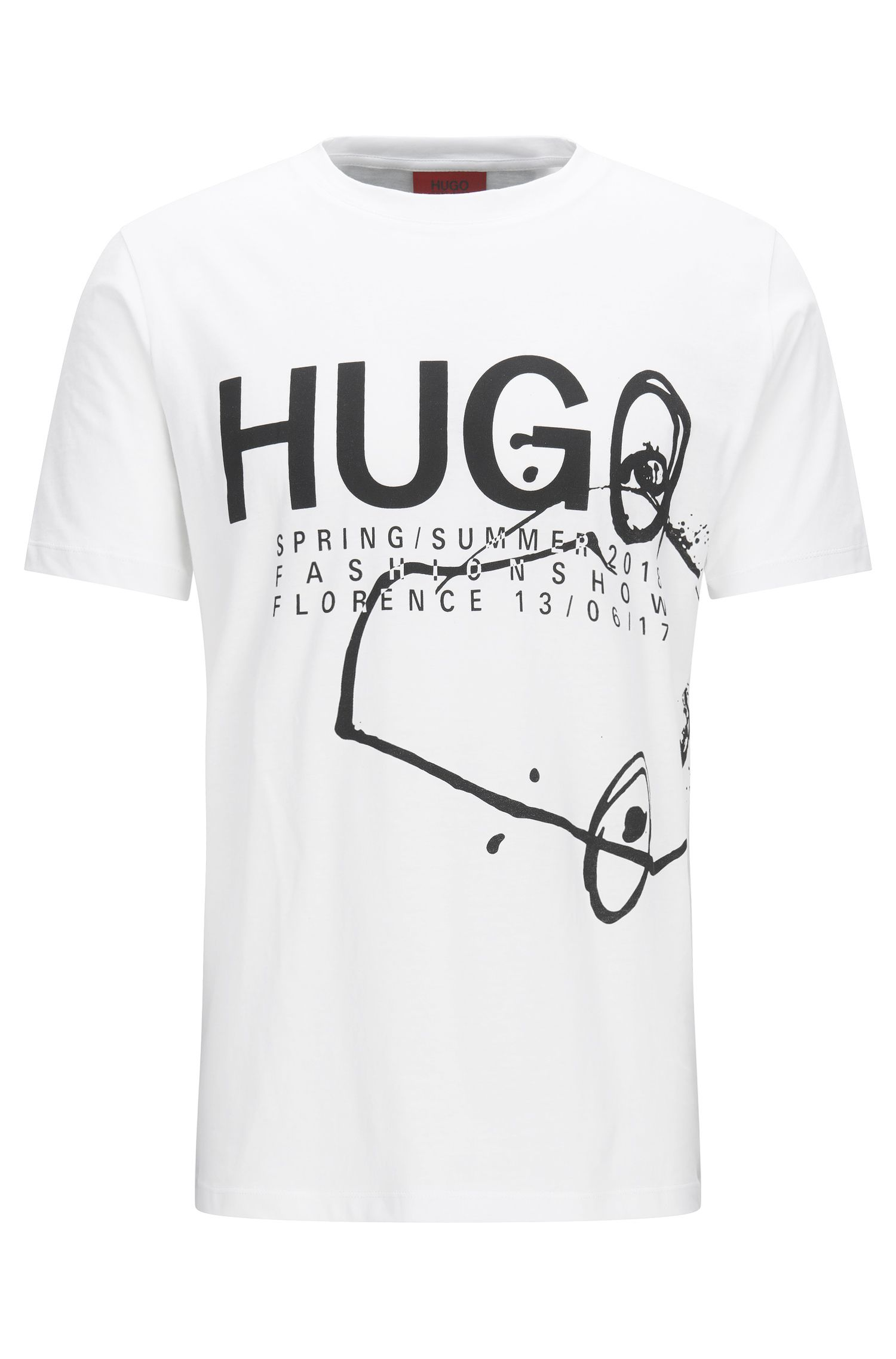 Regular-fit fashion show T-shirt in cotton