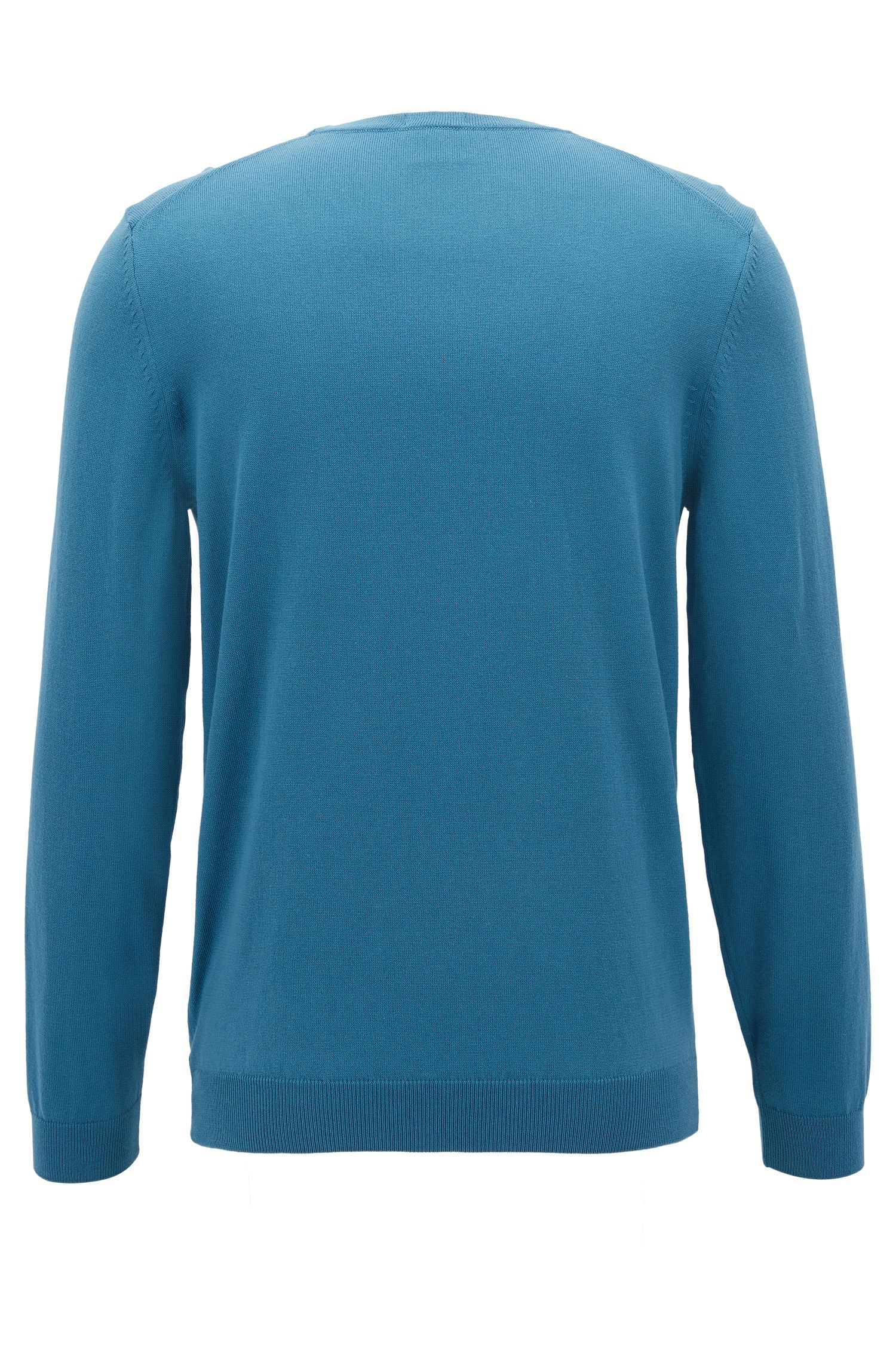 Crew-neck sweater in soft-washed Egyptian cotton