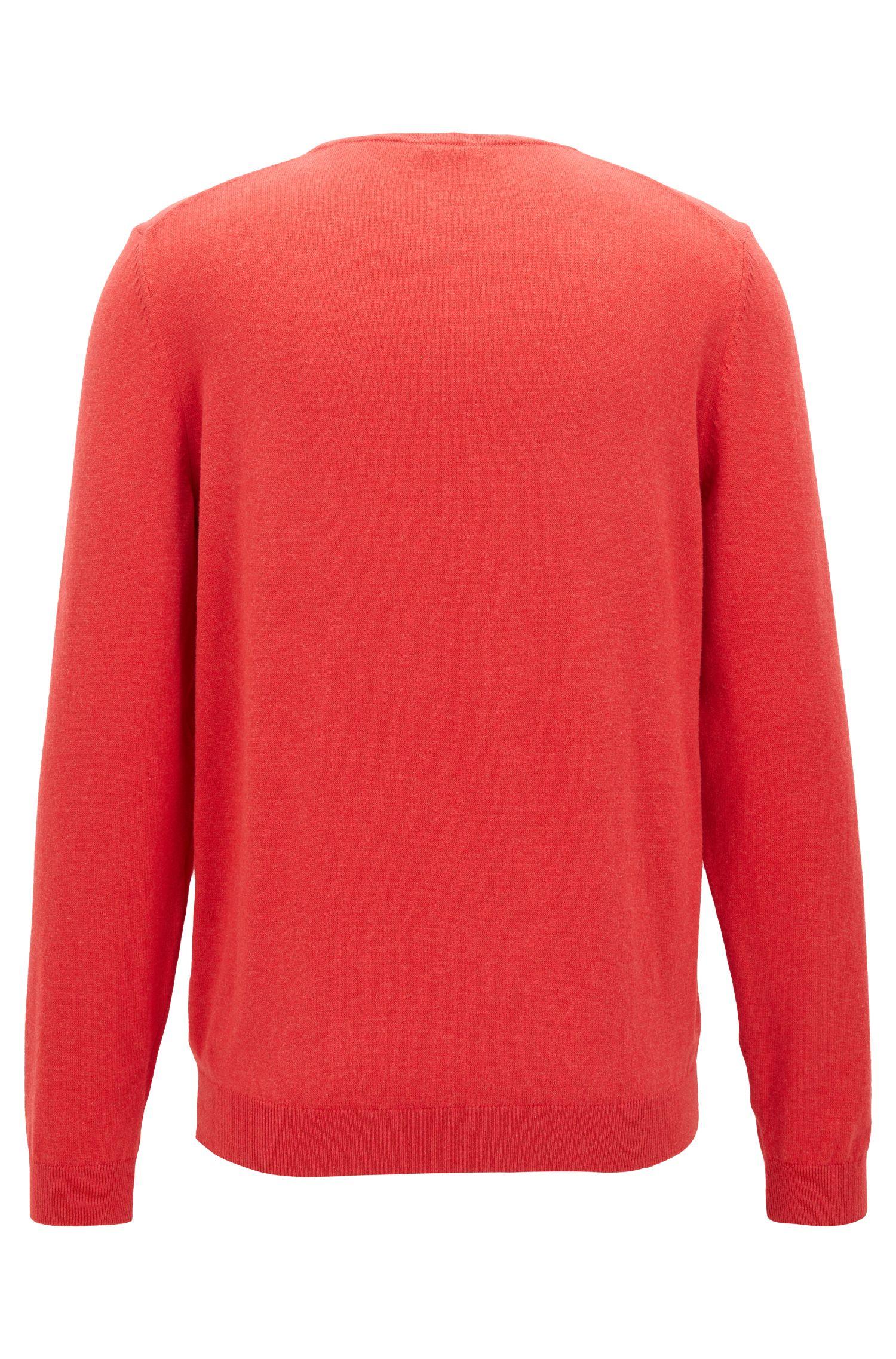 Jersey de cuello redondo en algodón egipcio con un suave lavado
