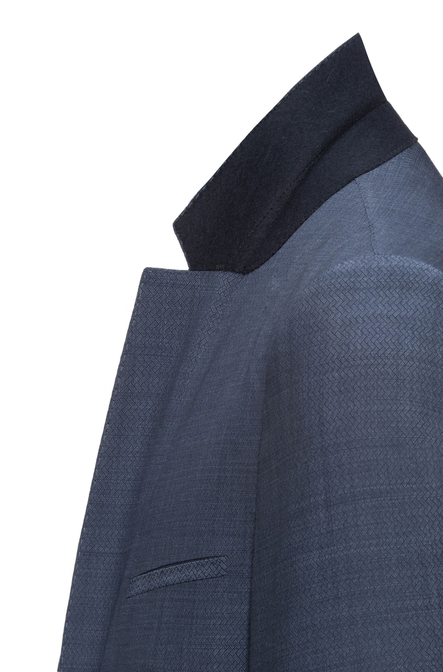 Traje extra slim fit en lana virgen con microestampado
