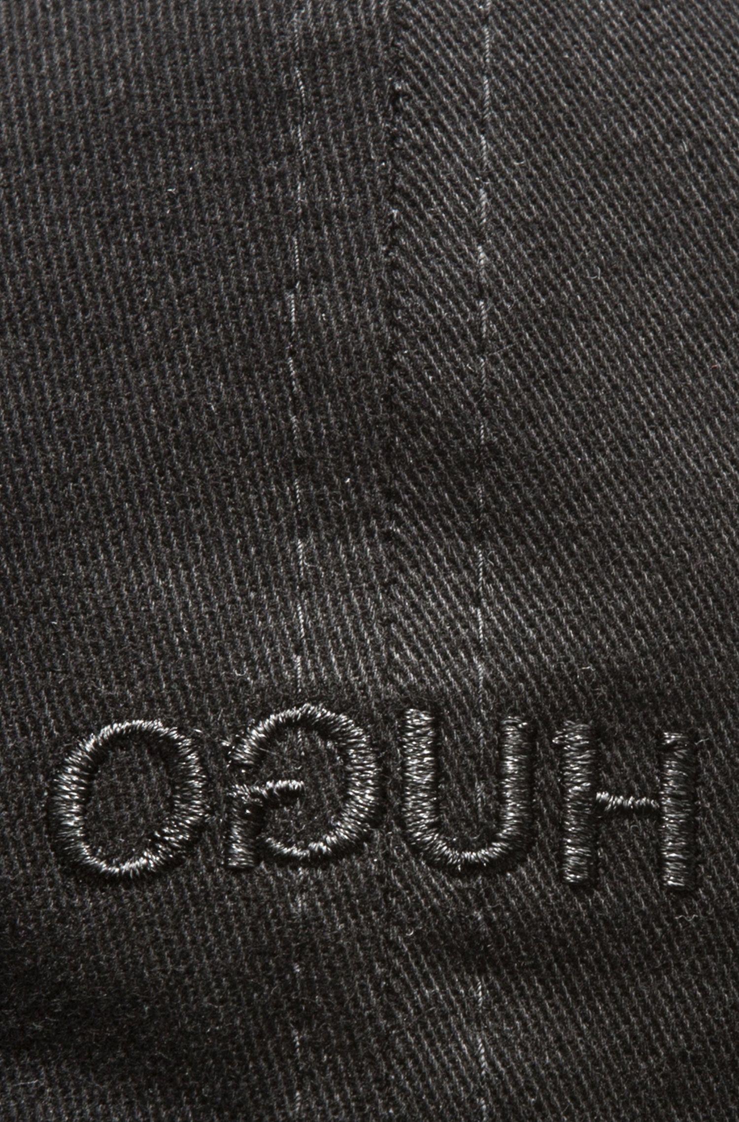 Baseballpet van katoen met gespiegeld logo