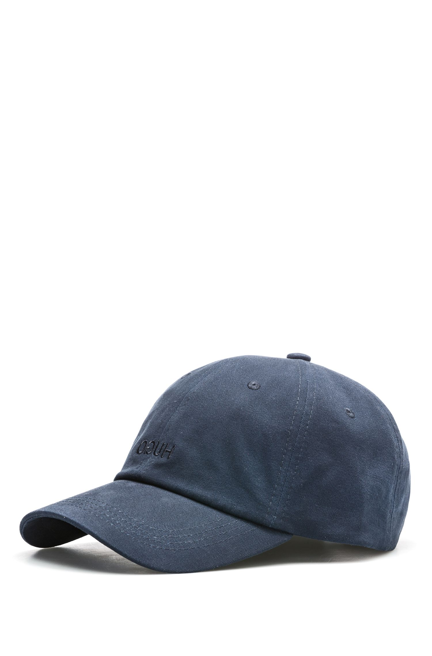 Reverse logo cotton baseball cap