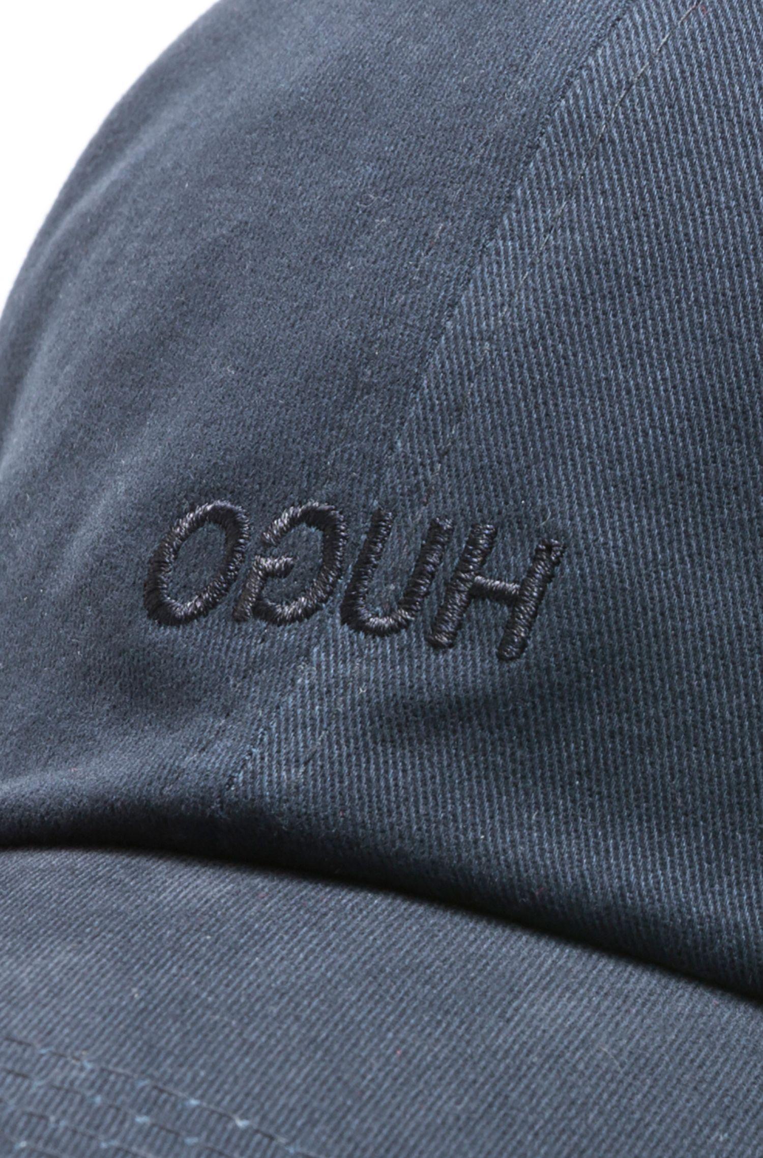Reverse logo cotton baseball cap