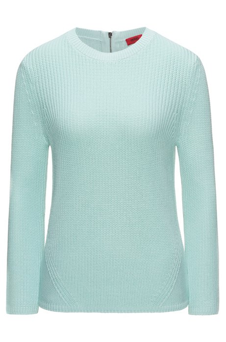 Half-cardigan knitted sweater in pure cotton HUGO BOSS Footlocker Online Buy Cheap Low Price Fee Shipping QCoNT