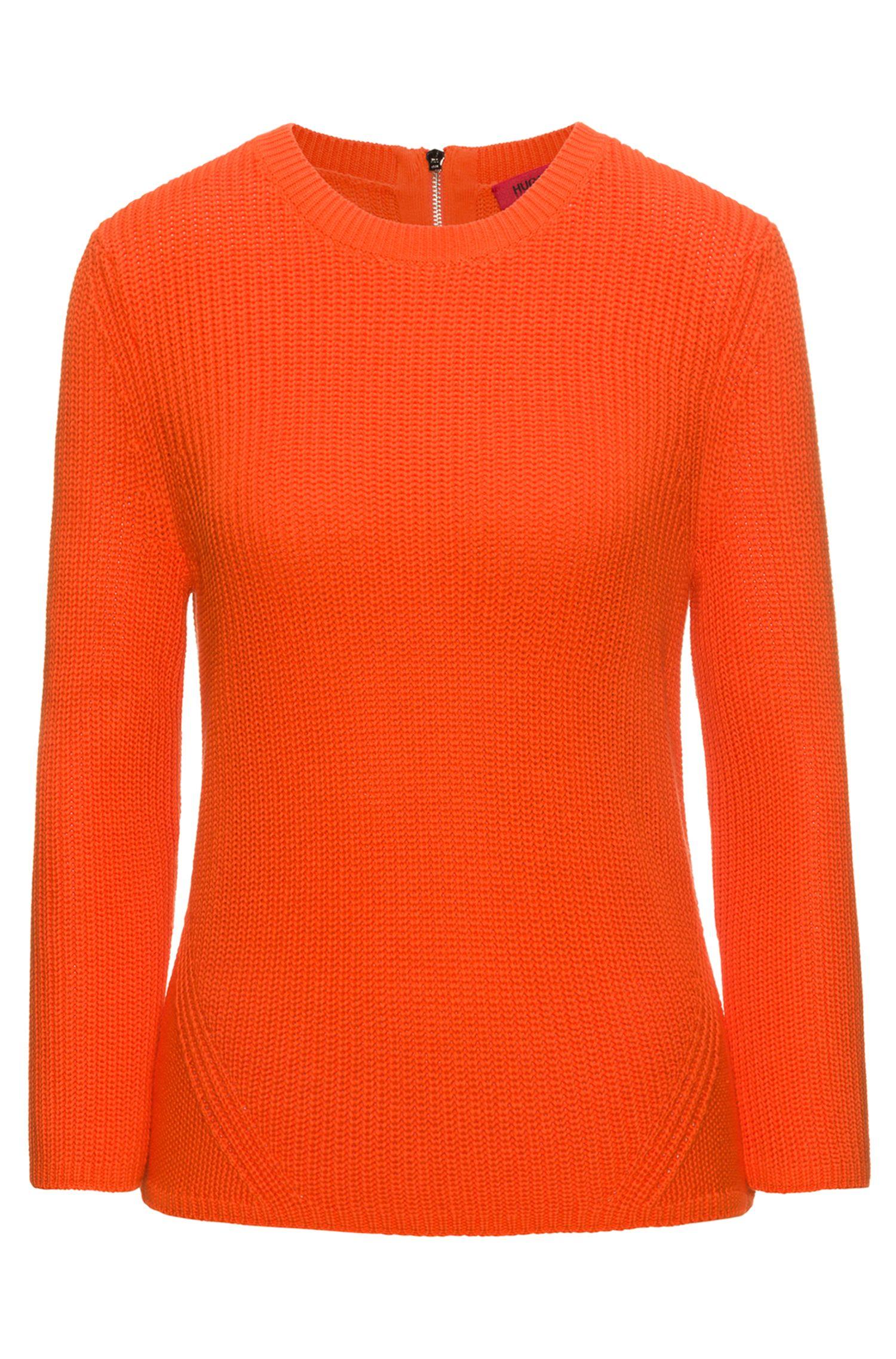 Pull en maille à structure de tricot en pur coton